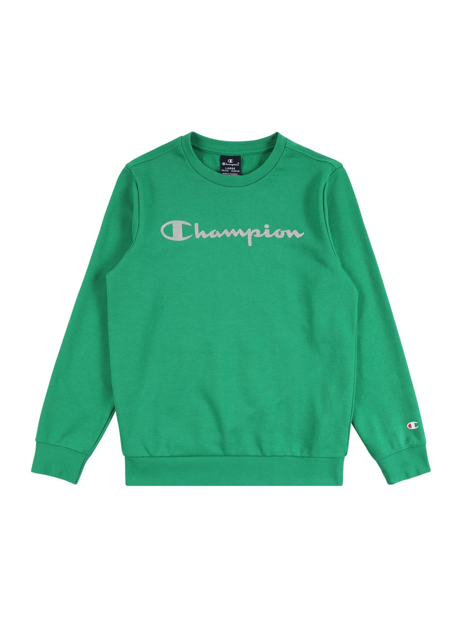 Champion Authentic Athletic Apparel Megztinis be užsegimo šviesiai žalia / balta