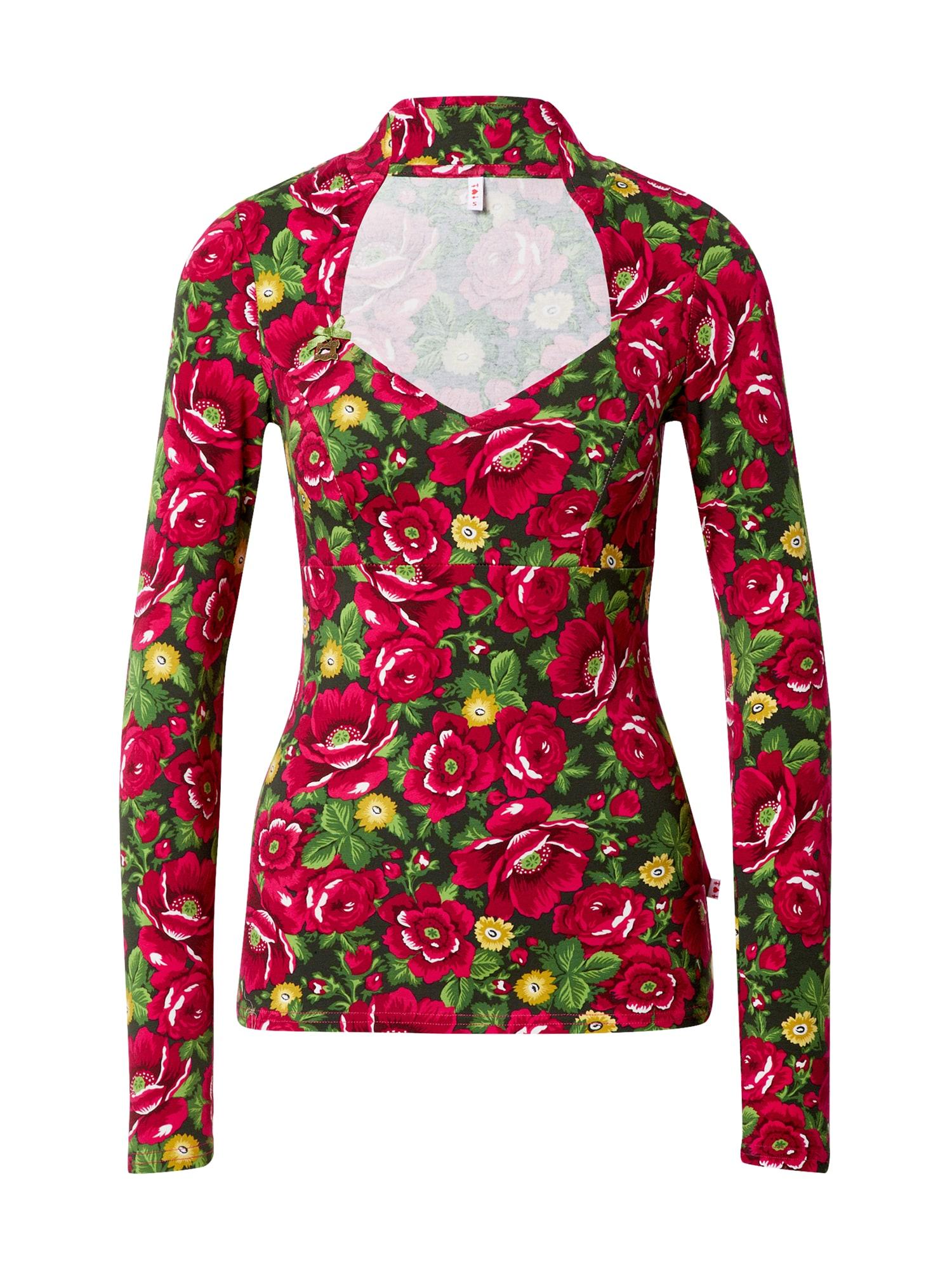 Blutsgeschwister Marškinėliai raudona / žalia