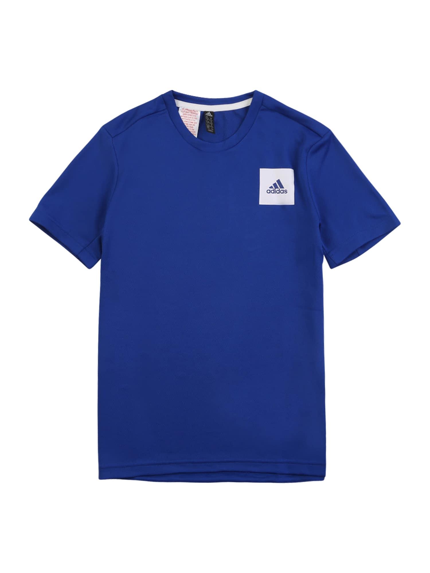 """ADIDAS PERFORMANCE Sportiniai marškinėliai sodri mėlyna (""""karališka"""") / balta"""