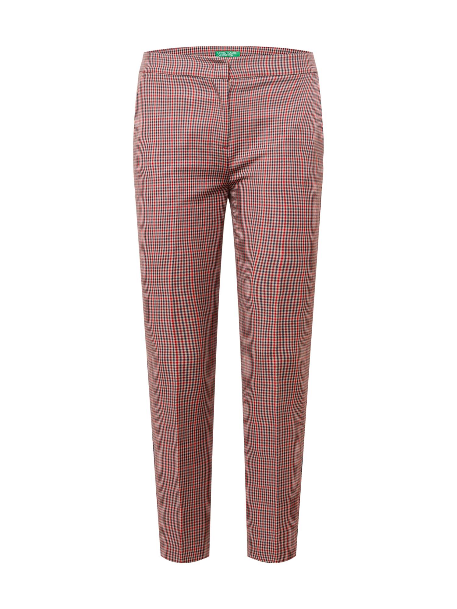 UNITED COLORS OF BENETTON Kalhoty s puky  červená / bílá / tmavě modrá