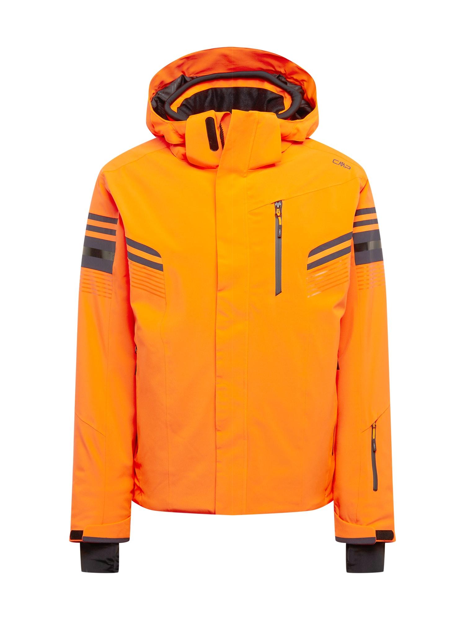 CMP Sportovní bunda  oranžová / černá