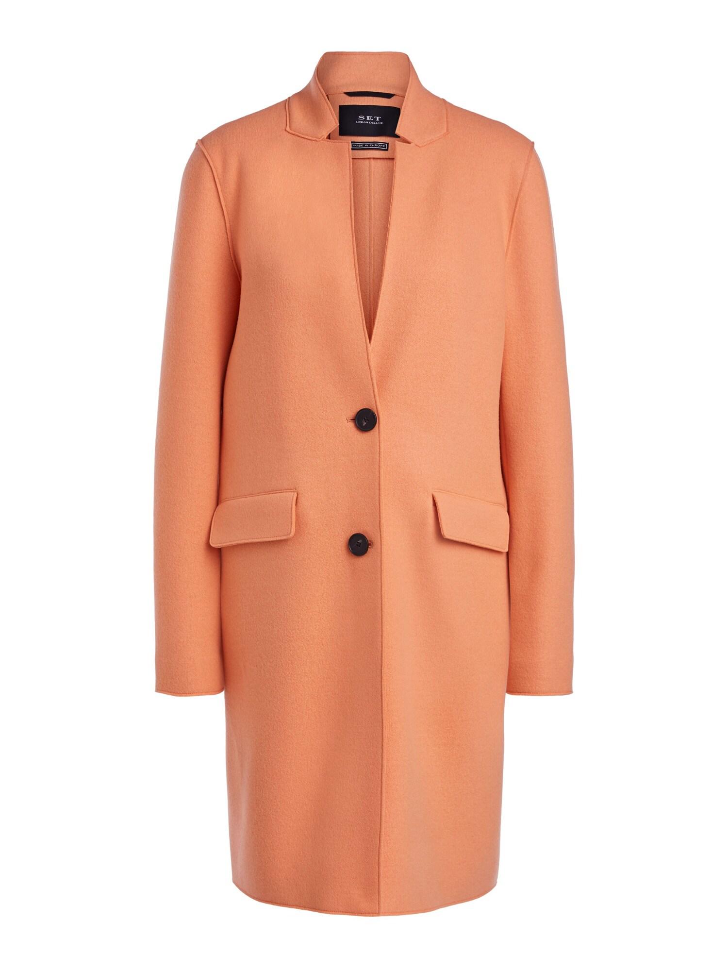 SET Demisezoninis paltas koralų splava