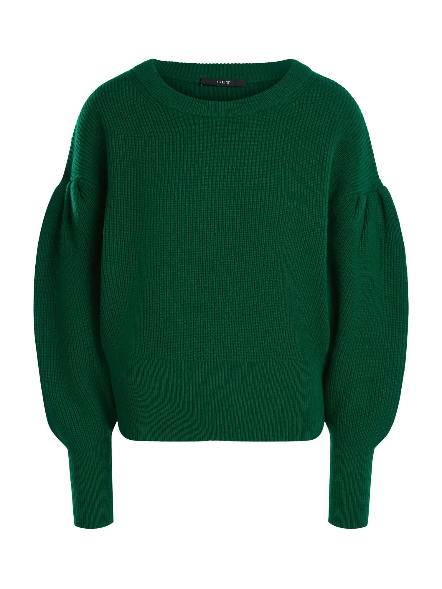 SET Megztinis smaragdinė spalva