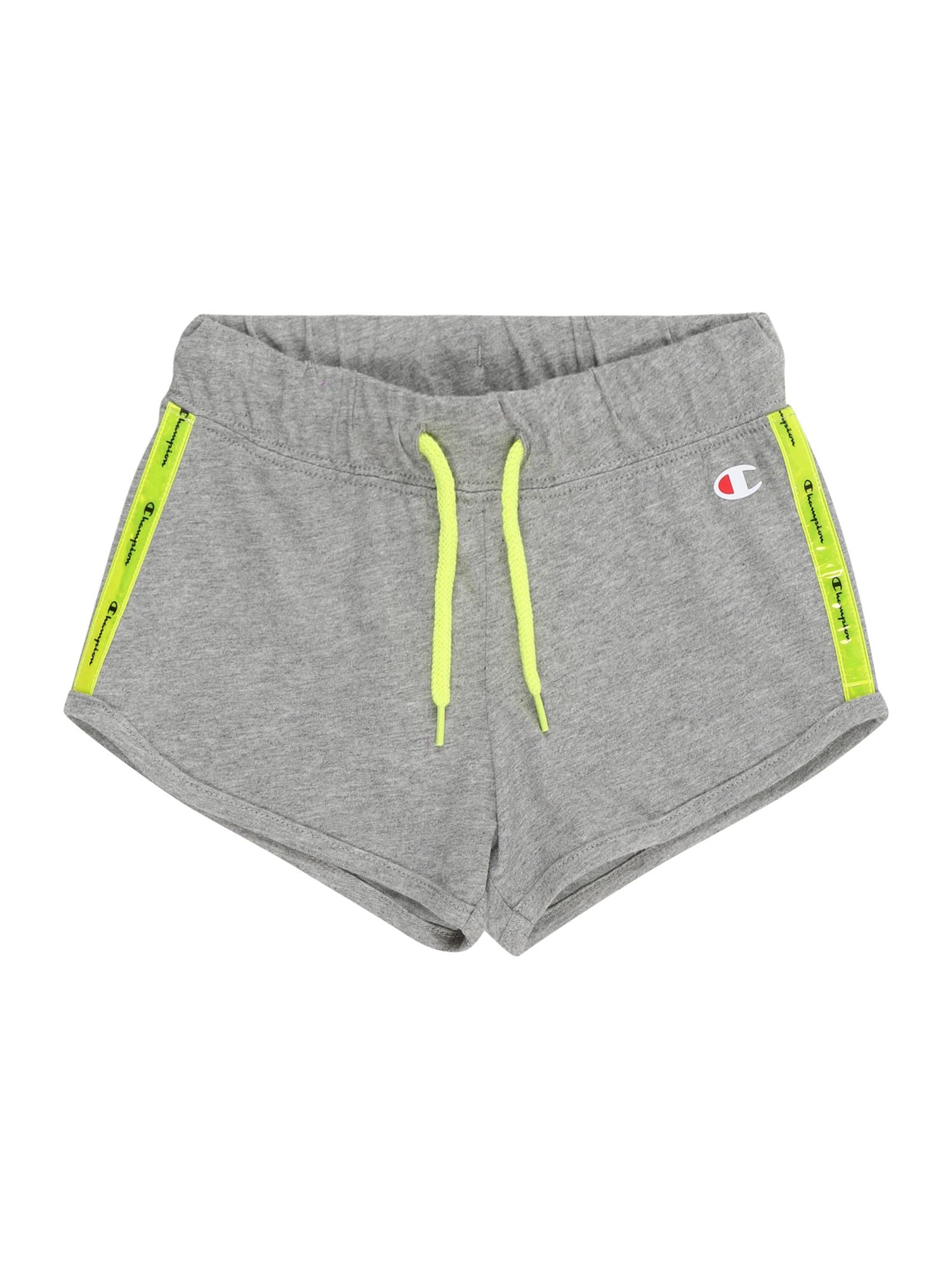 Champion Authentic Athletic Apparel Kelnės margai pilka / neoninė geltona