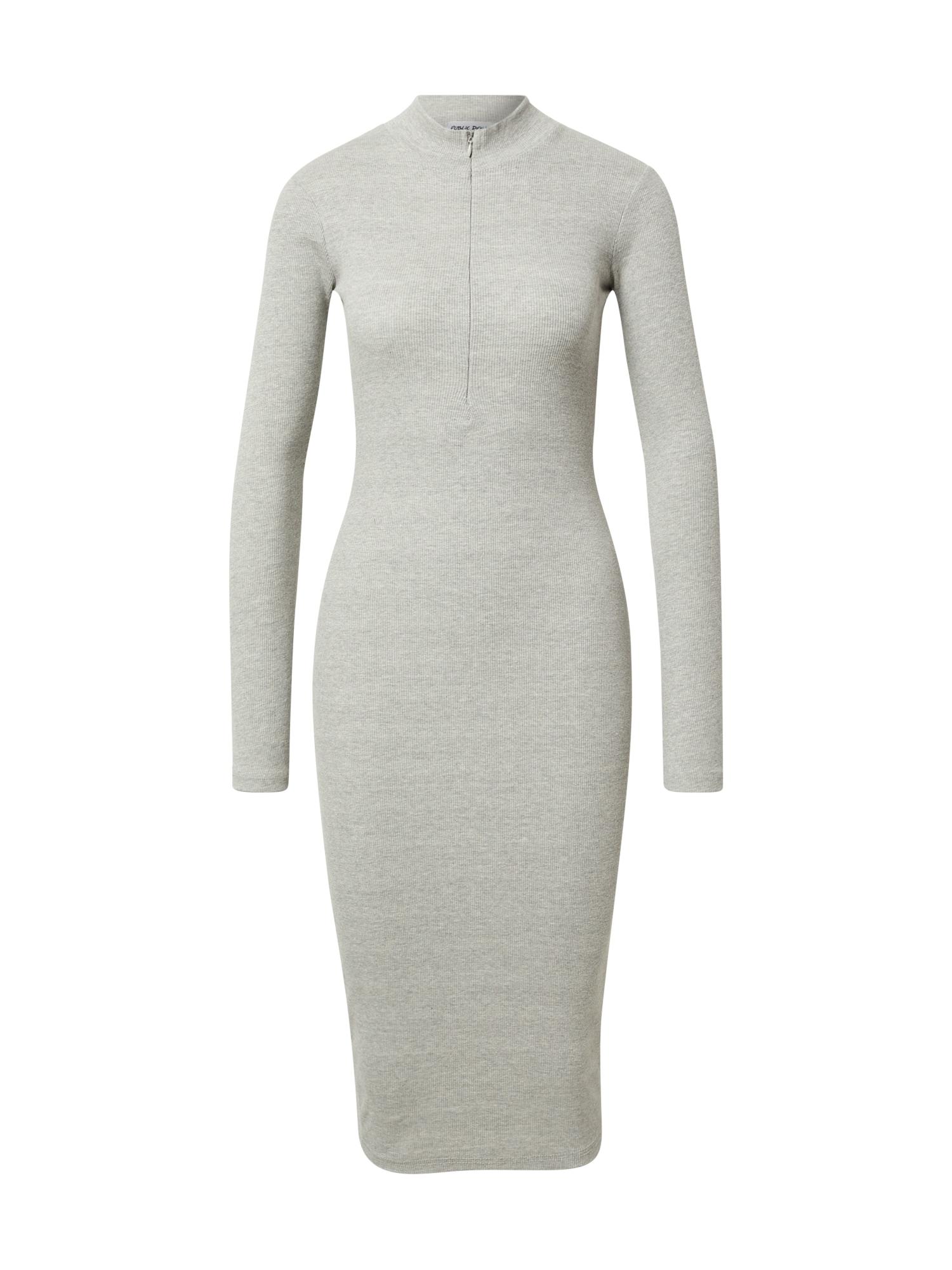 Public Desire Megzta suknelė šviesiai pilka