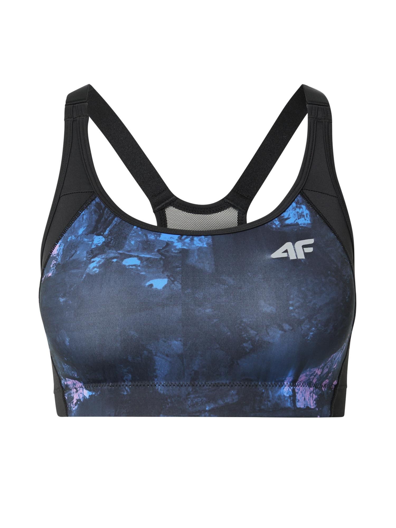 4F Sportinė liemenėlė tamsiai mėlyna / juoda