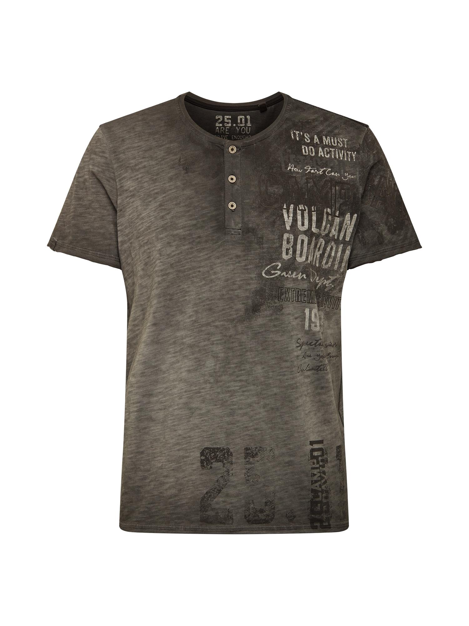 CAMP DAVID Marškinėliai pilka / juoda / balta