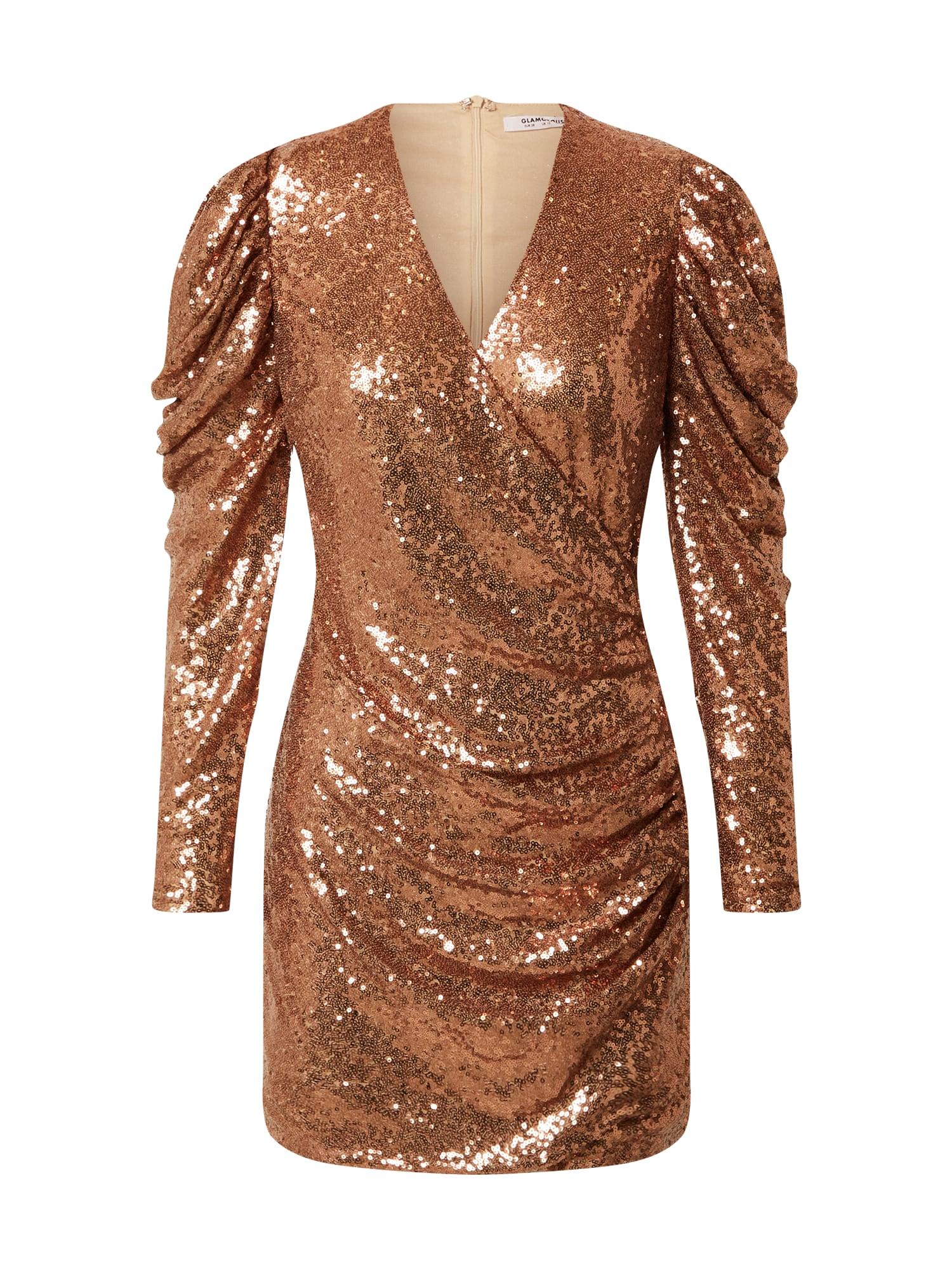 GLAMOROUS Kokteilinė suknelė bronzinė