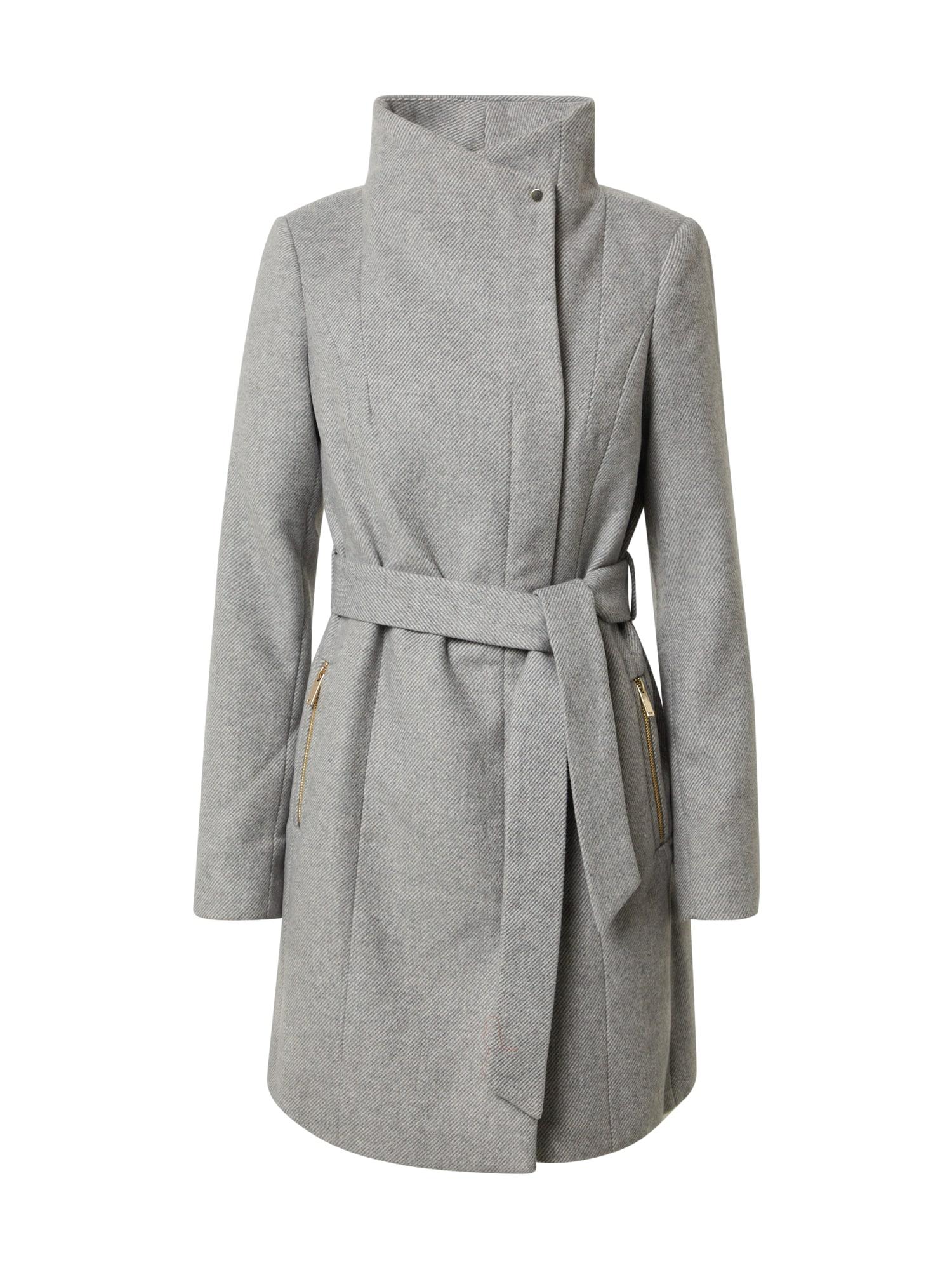 VERO MODA Přechodný kabát  světle šedá