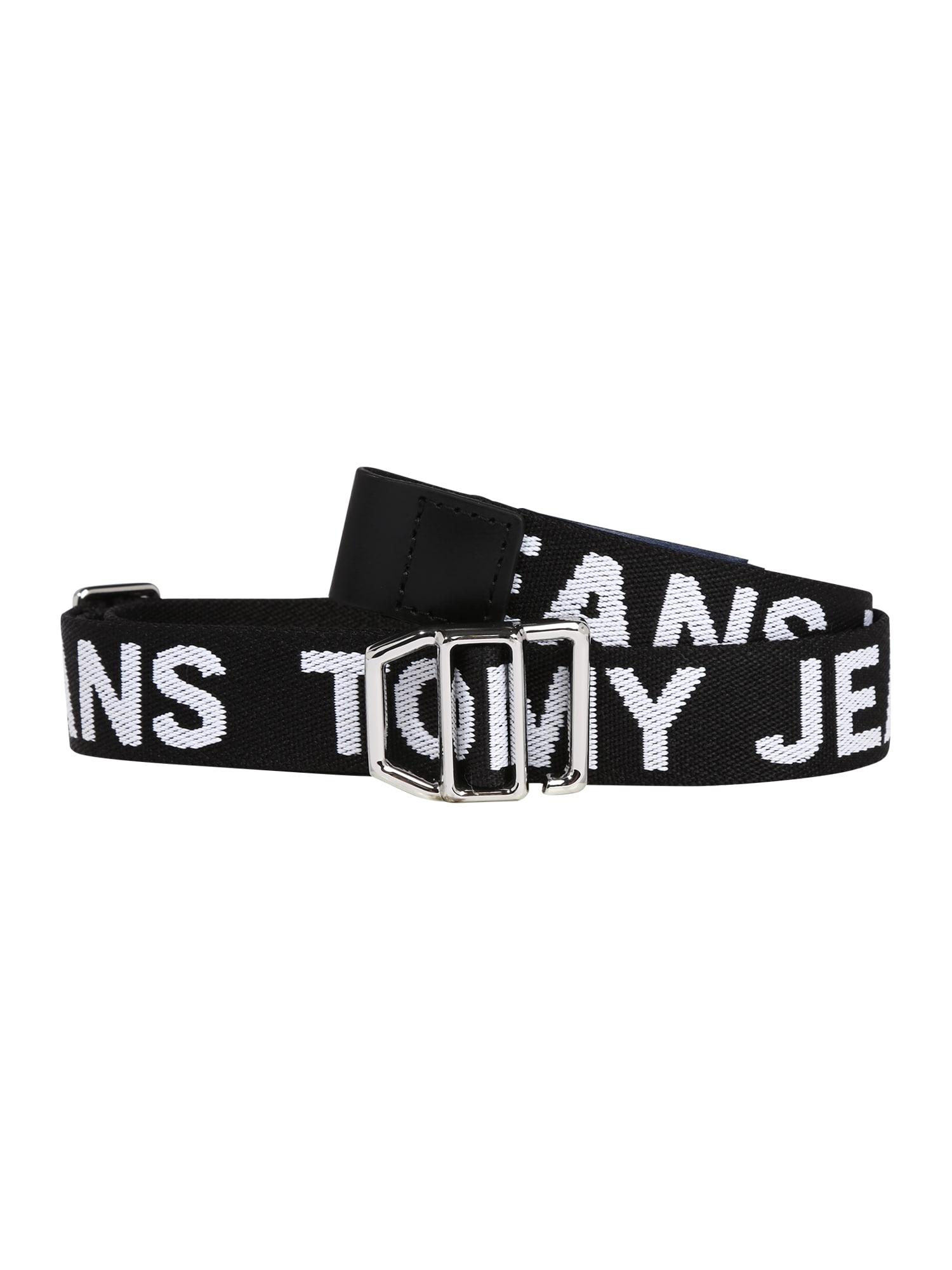 Tommy Jeans Diržas juoda / balta