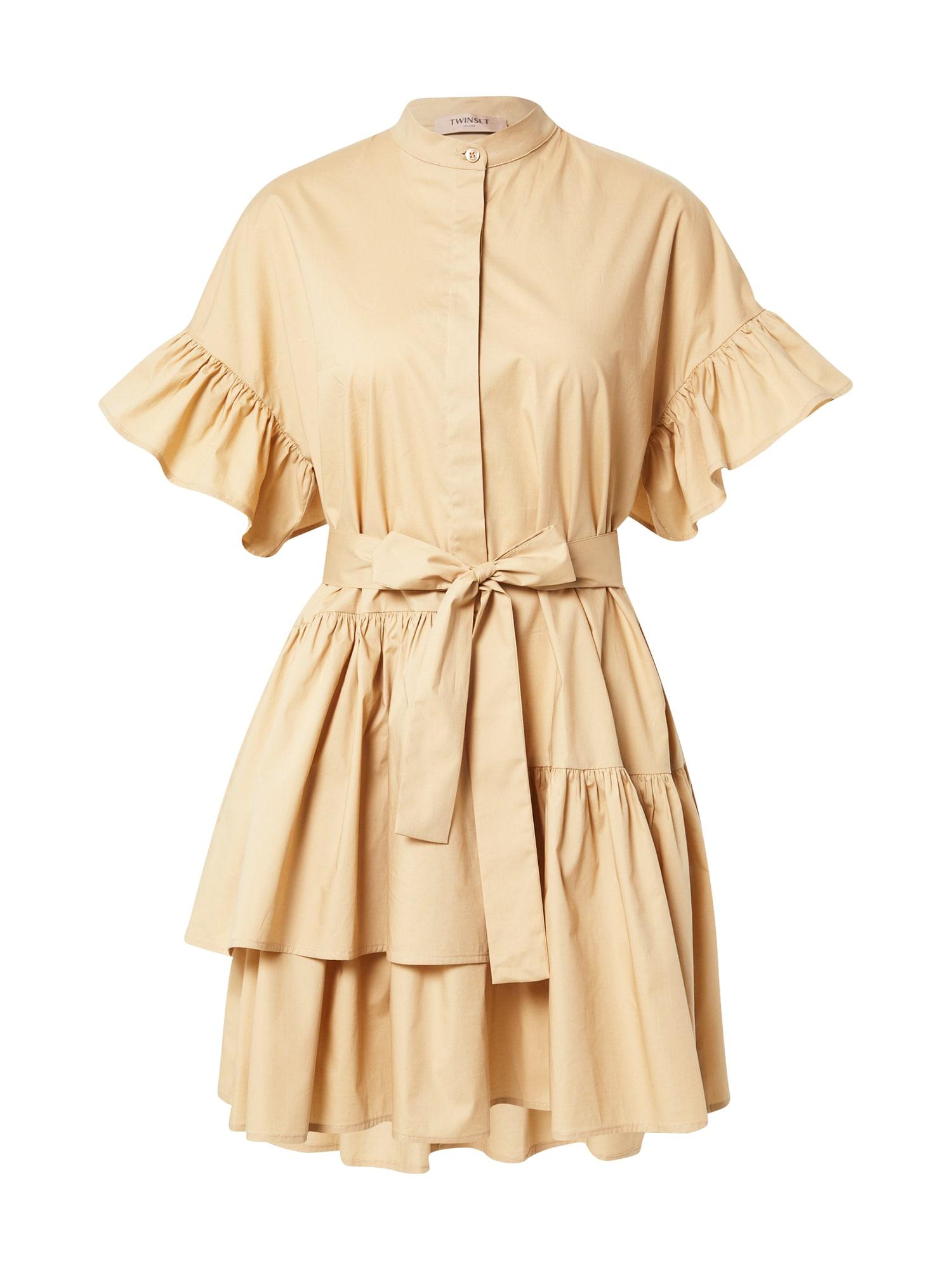 Twinset Palaidinės tipo suknelė smėlio