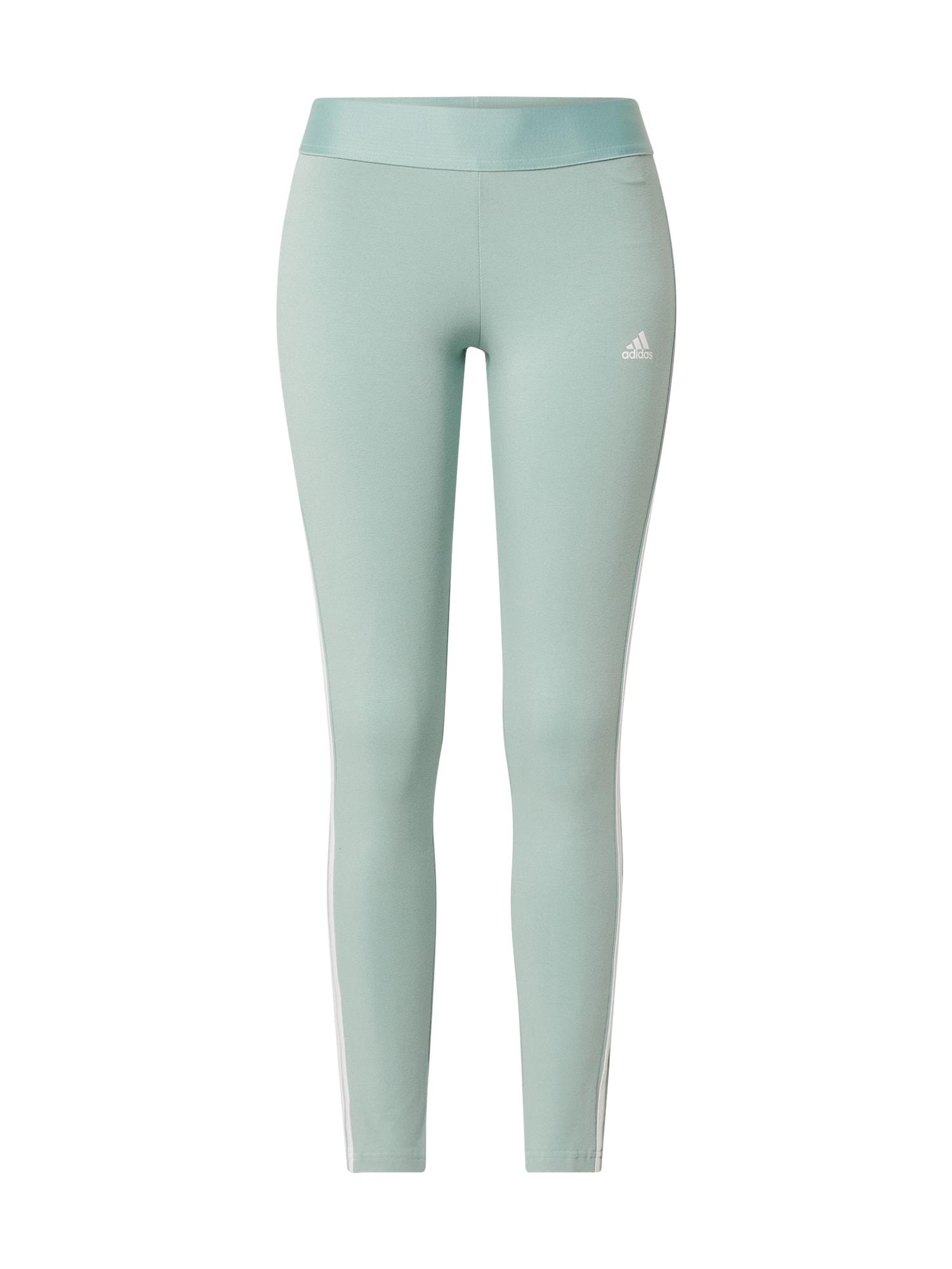 ADIDAS PERFORMANCE Sportovní kalhoty 'Essentials'  mátová / bílá