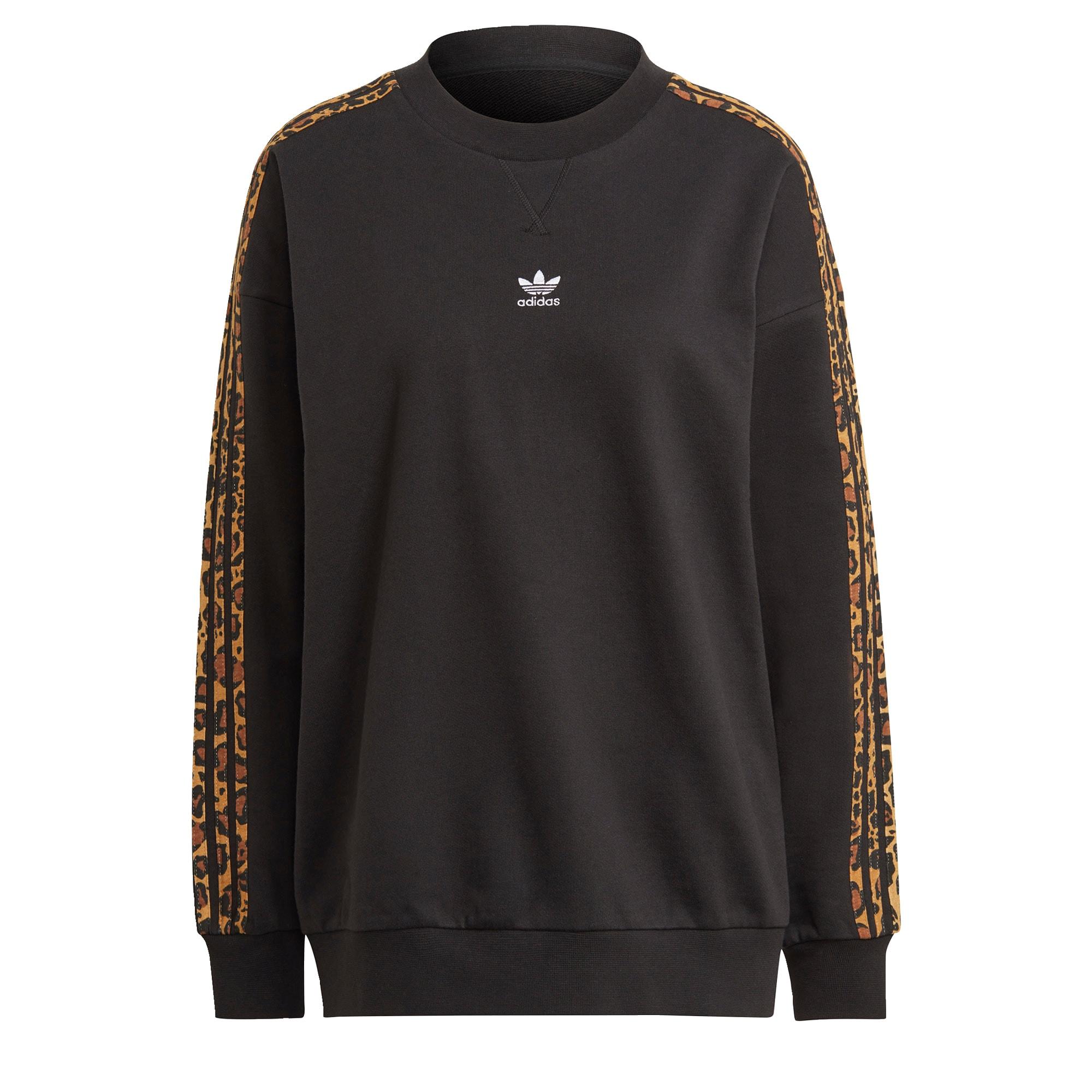 ADIDAS ORIGINALS Megztinis be užsegimo juoda / ruda