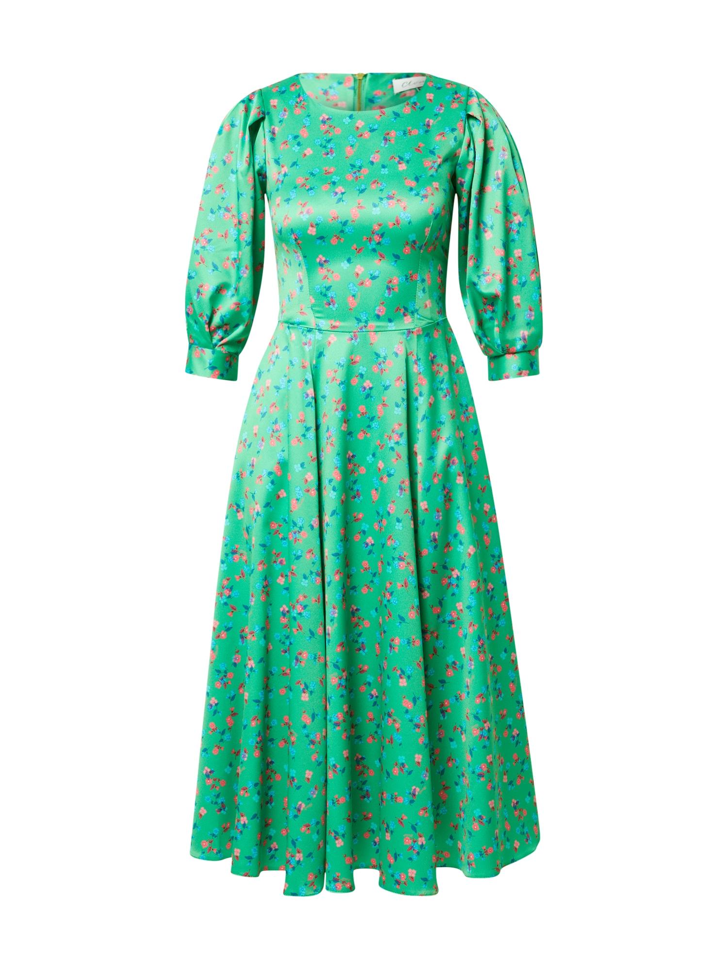 Closet London Palaidinės tipo suknelė žalia / mėlyna / rožių spalva