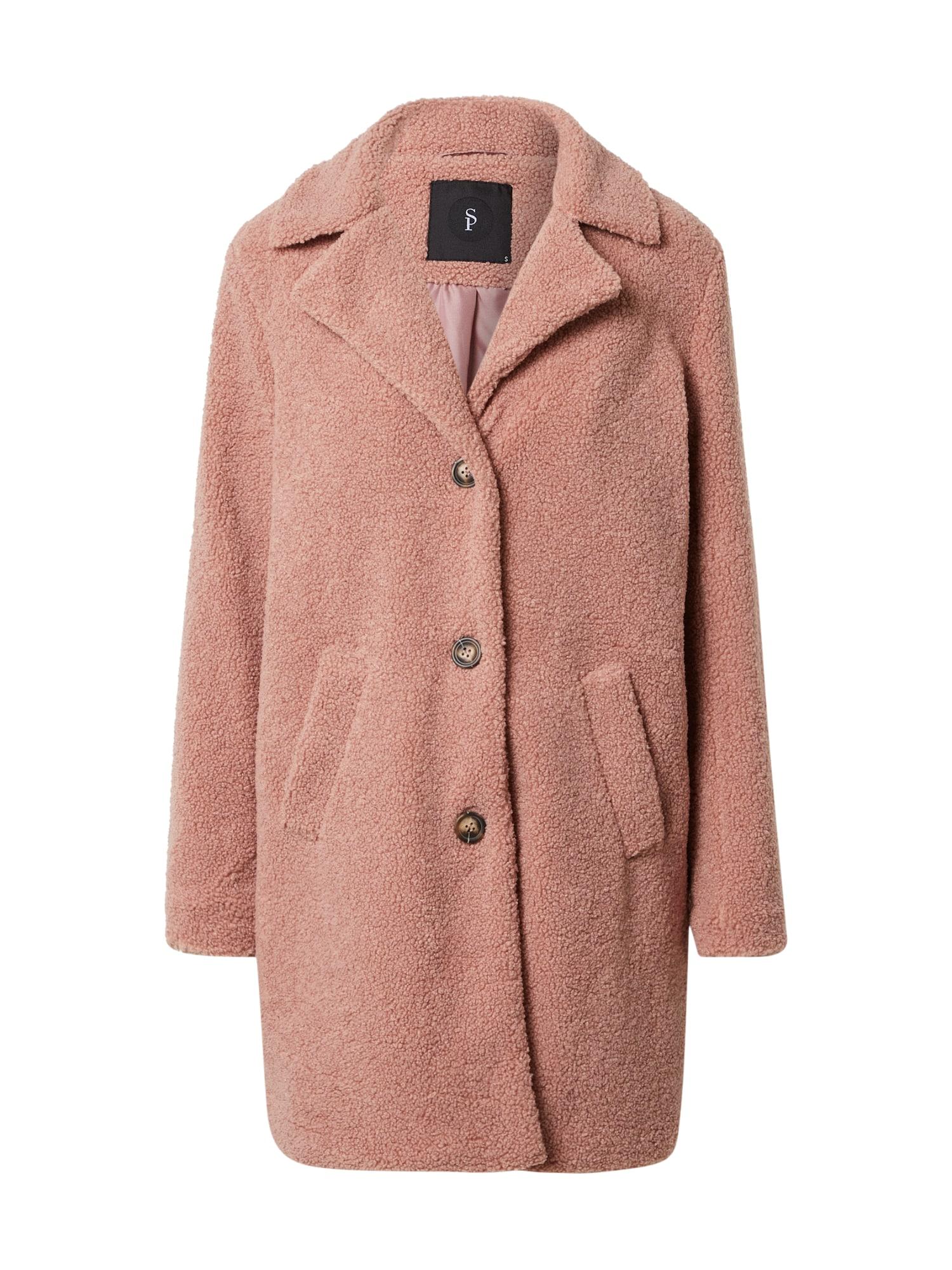 SISTERS POINT Demisezoninis paltas ryškiai rožinė spalva