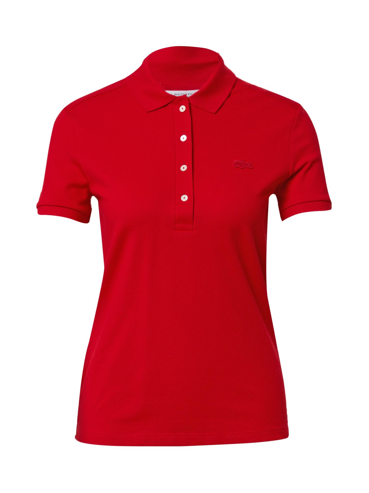 LACOSTE Marškinėliai ugnies raudona