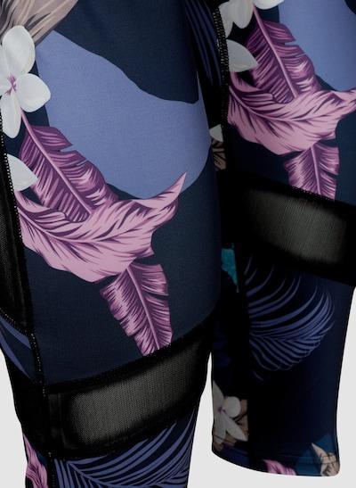 Trainingsleggings von Active by Zizzi.  Bequeme Trainingsleggings mit 7/8-Länge und femininem, buntem Blumenprint. Sie hat einen breiten Gummibund an der Taille und angesagte Meshdetails am Bein.