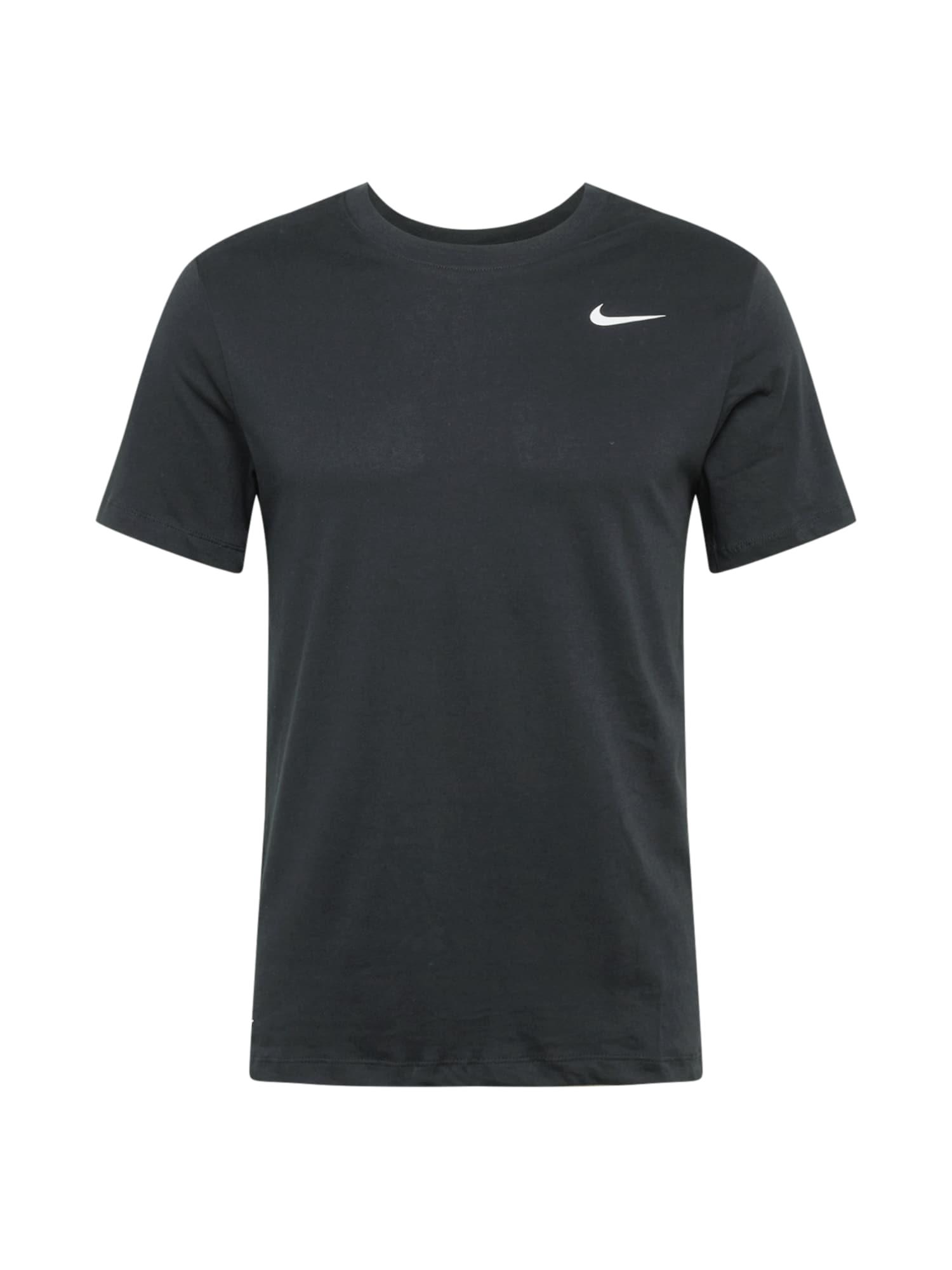 NIKE Tričko  černá / bílá
