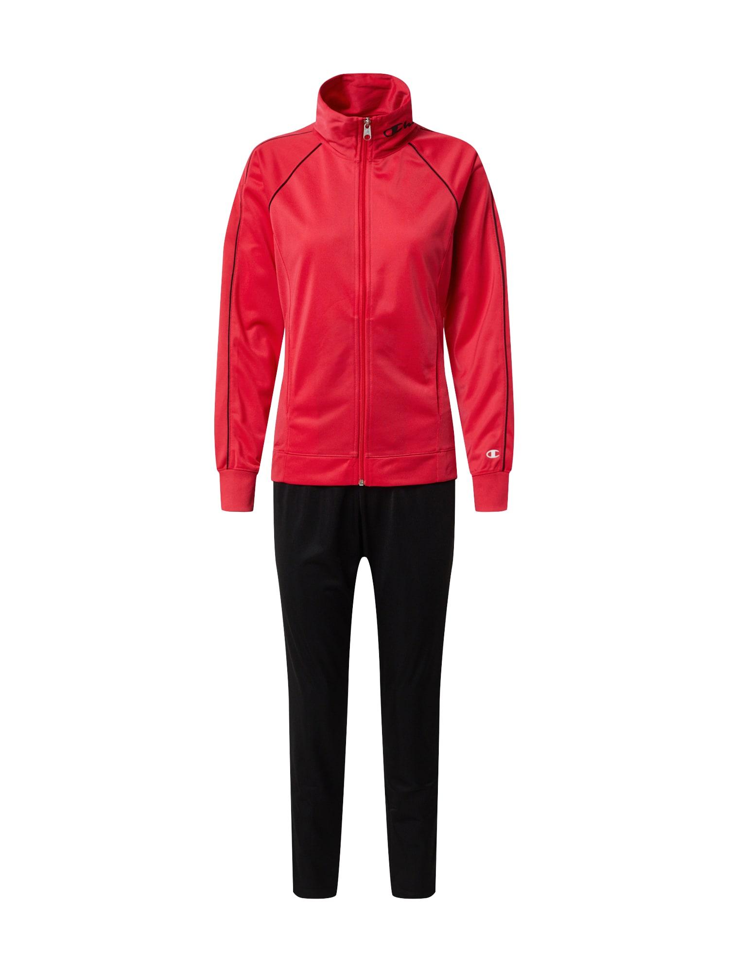 Champion Authentic Athletic Apparel Sportinis kostiumas 'Full Zip Suit' juoda / rožinė