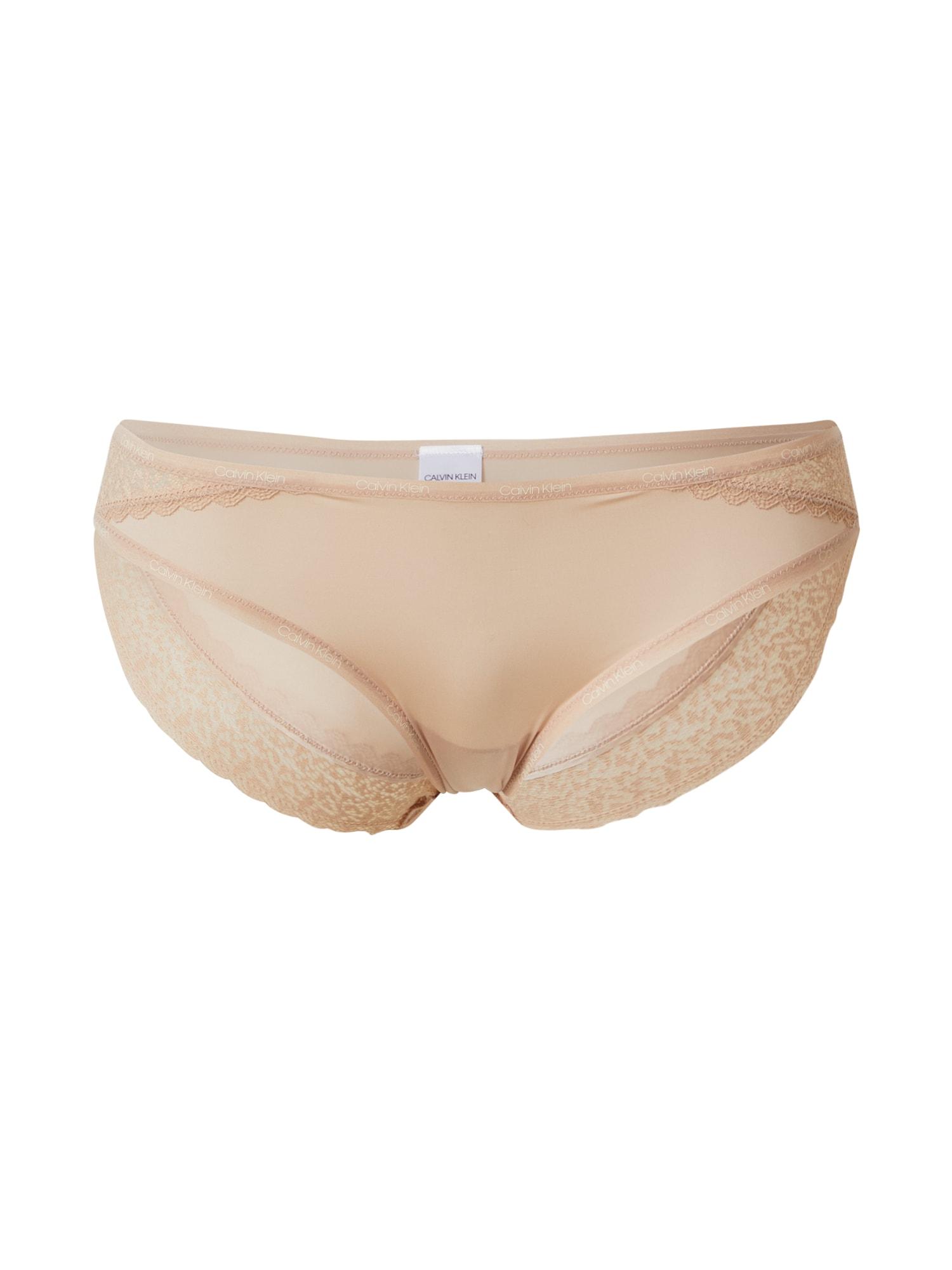 Calvin Klein Underwear Moteriškos kelnaitės 'Flirty' kūno spalva