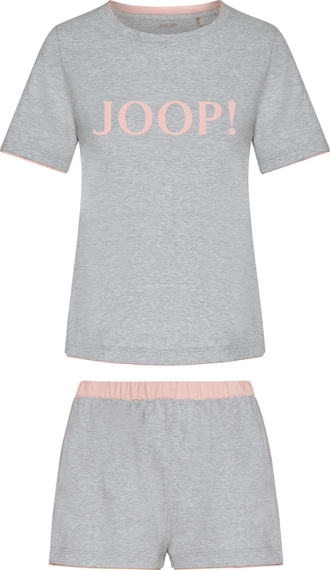 JOOP! Pižama su šortais margai pilka / rožių spalva