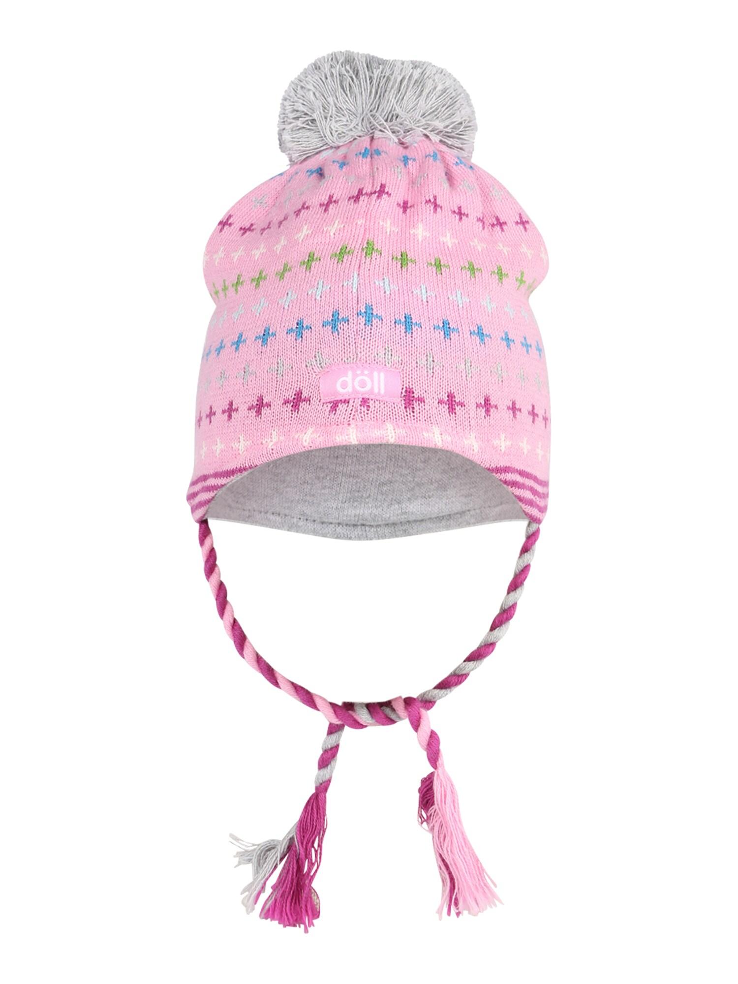 DÖLL Megzta kepurė šviesiai rožinė / mėlyna / šviesiai mėlyna / pitajų spalva / žalia