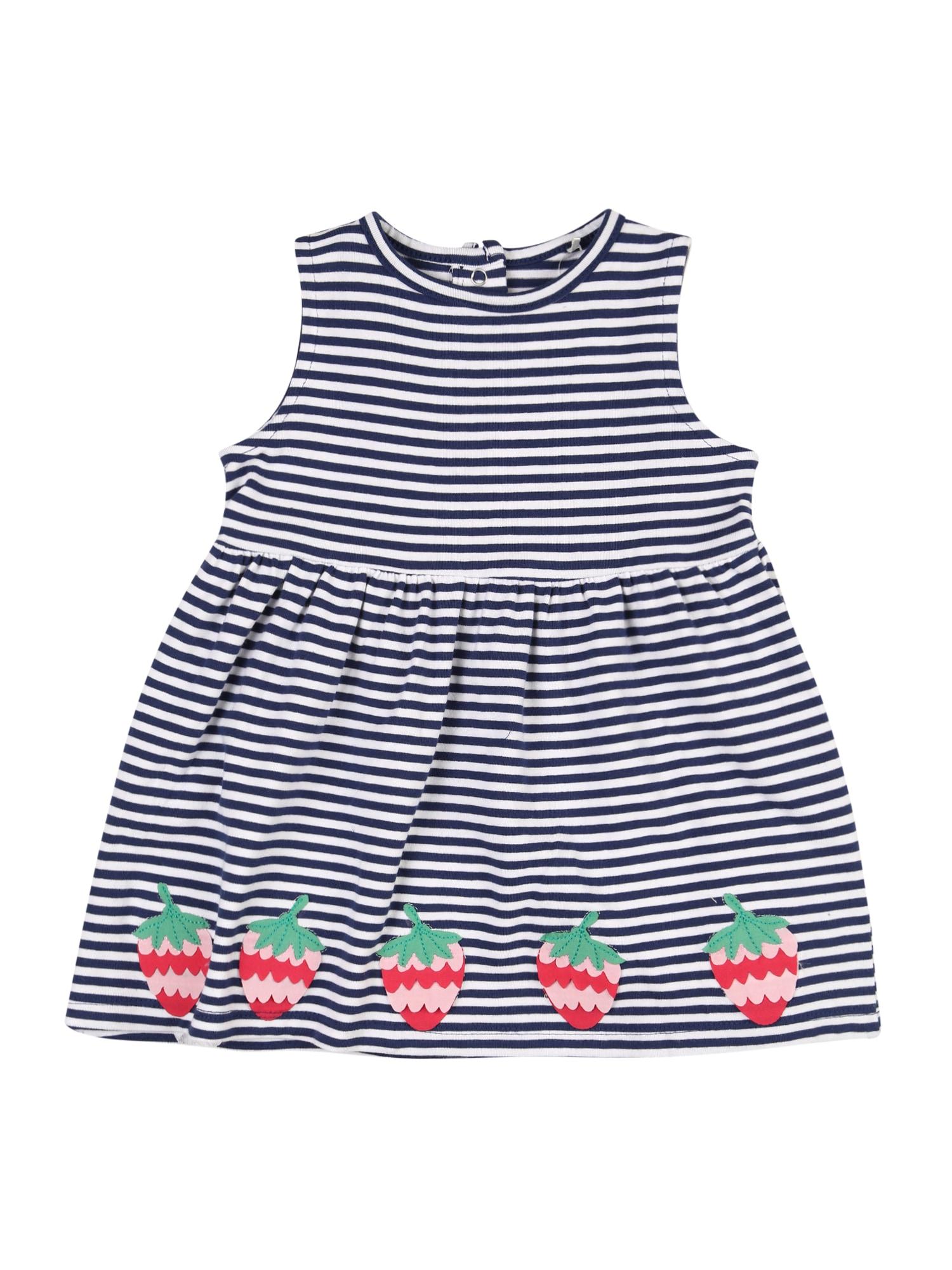 STACCATO Suknelė tamsiai mėlyna / balta / žalia / raudona / rožių spalva