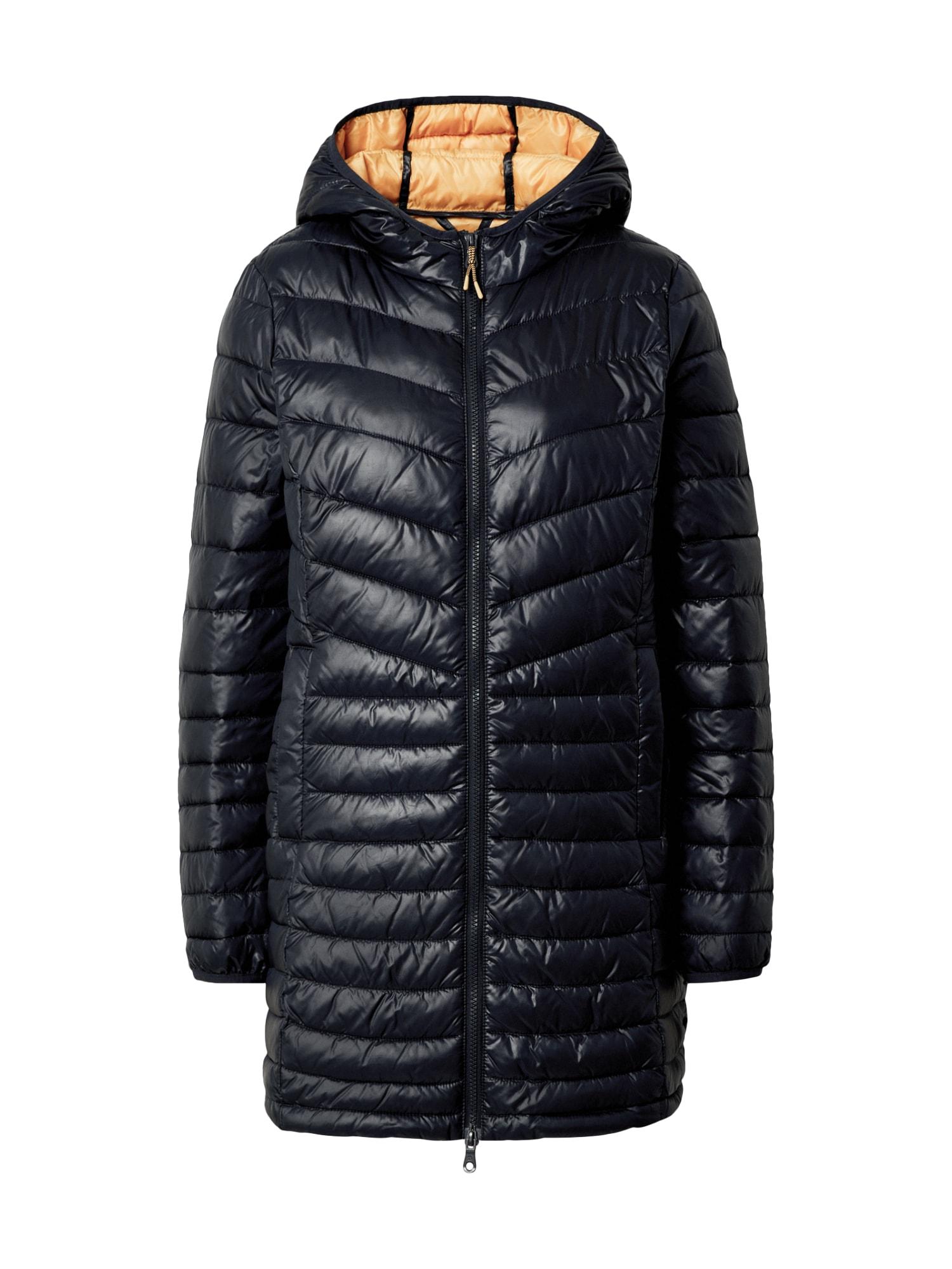 TOM TAILOR DENIM Demisezoninis paltas tamsiai mėlyna