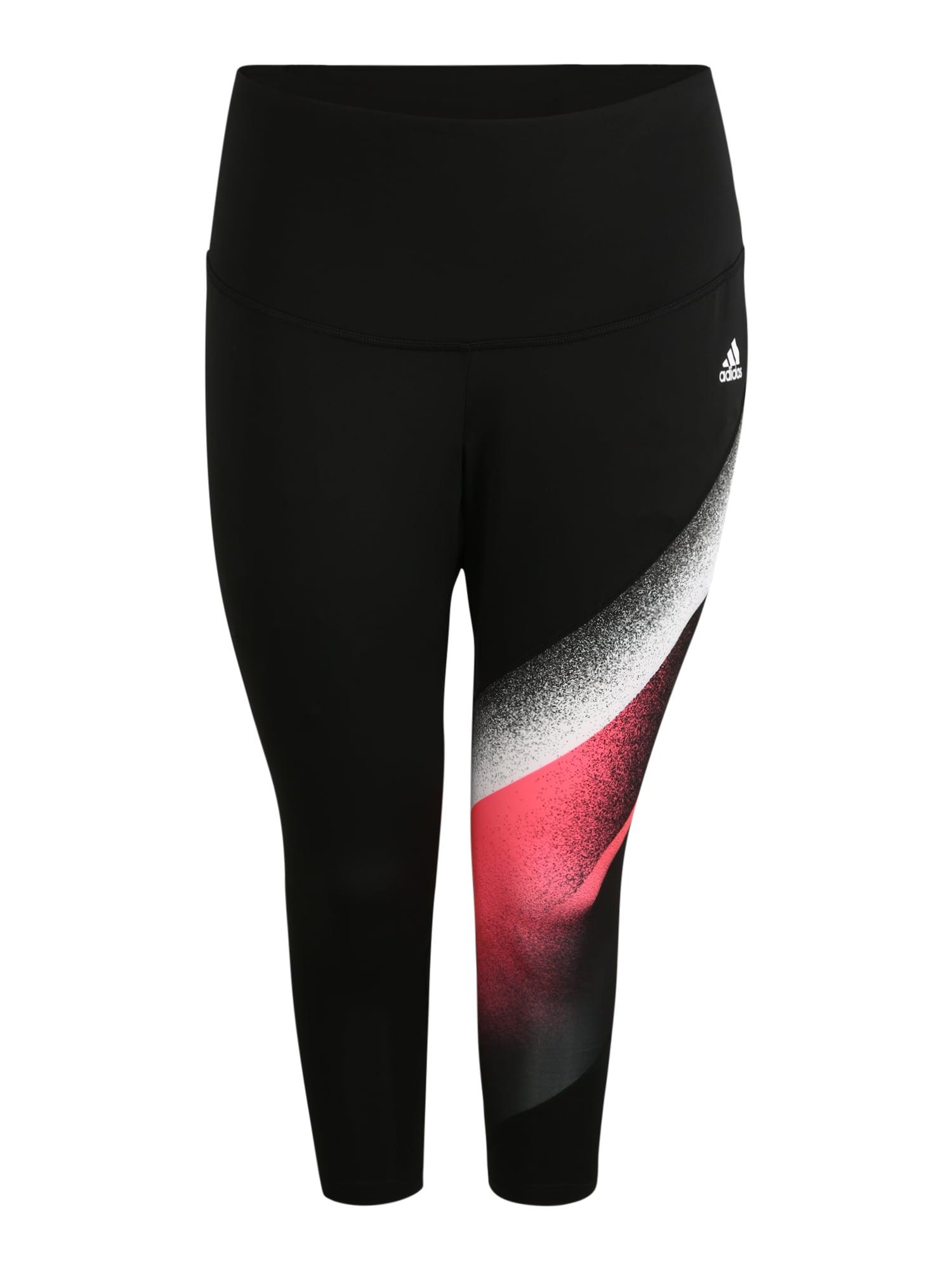 ADIDAS PERFORMANCE Sportovní kalhoty  červená / černá / stříbrná