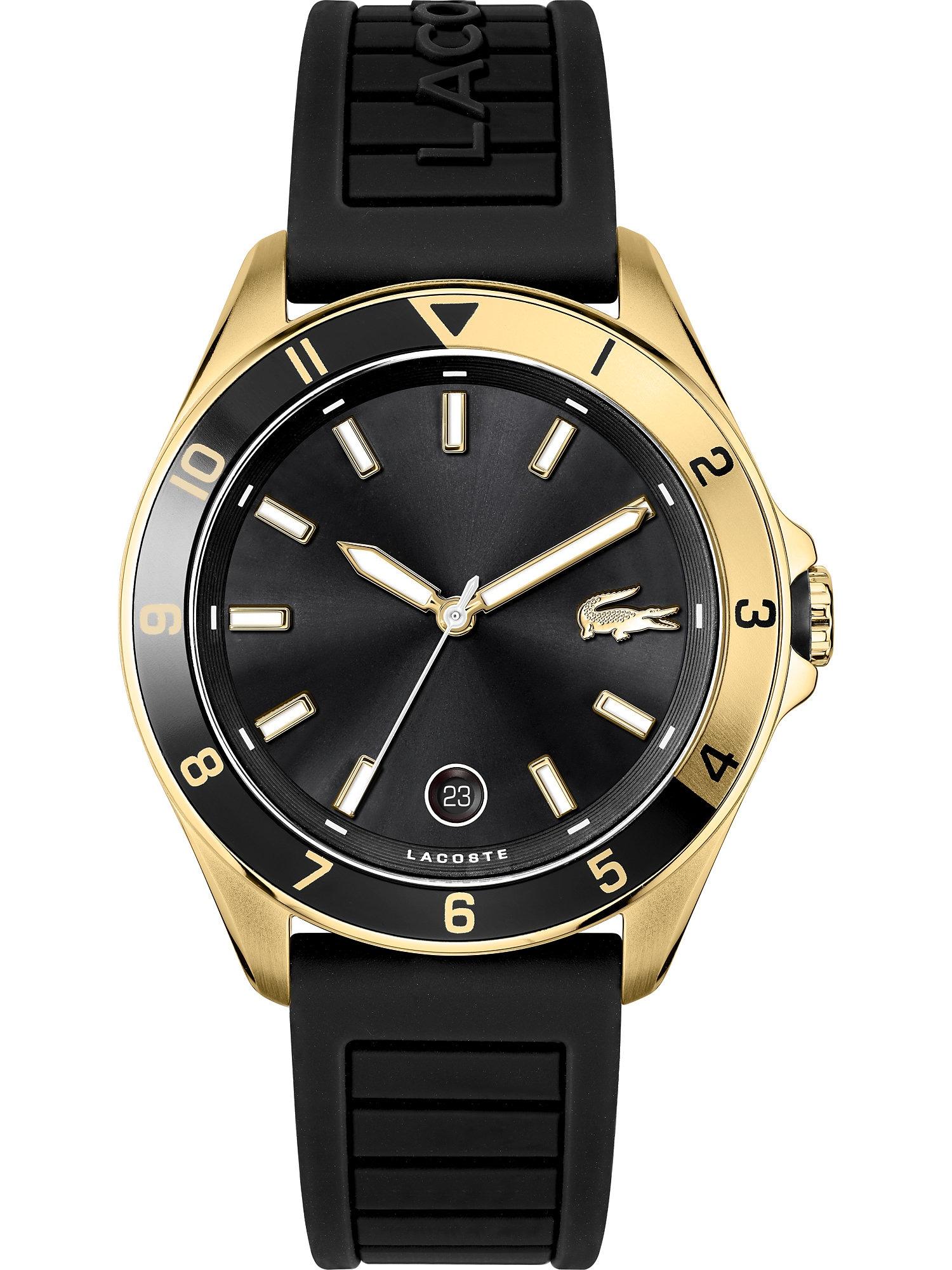 LACOSTE Analoginis (įprasto dizaino) laikrodis juoda / auksas
