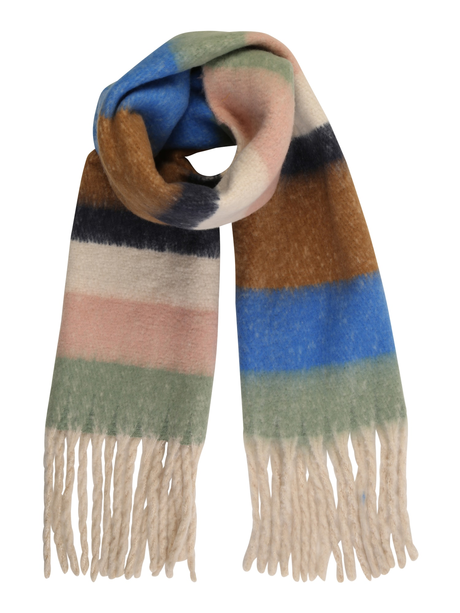 ONLY Šála 'BASIL'  královská modrá / barva bílé vlny / růžová / mátová / hnědá