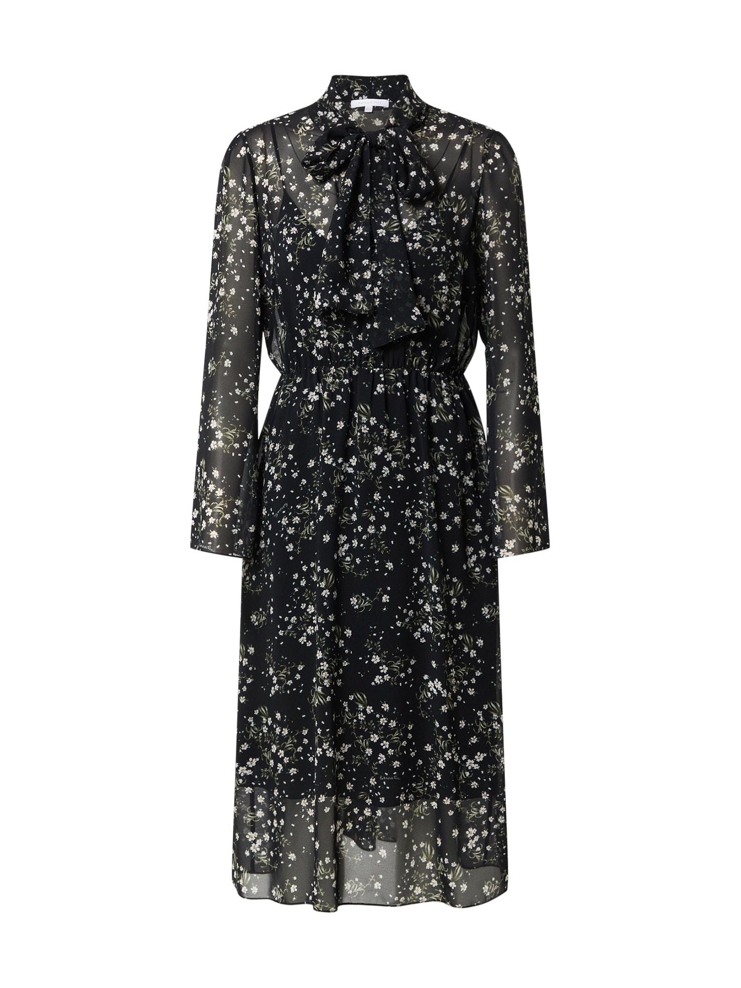 PATRIZIA PEPE Suknelė juoda / žalia / balta / geltona