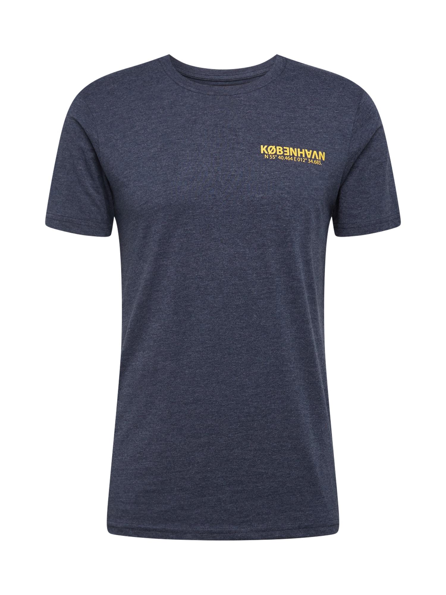 !Solid Tričko 'Matti'  marine modrá / oranžová