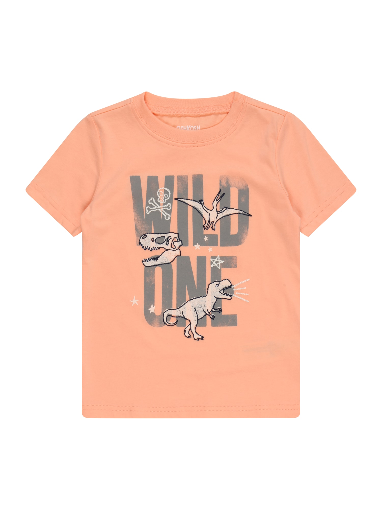 OshKosh Marškinėliai pilka / koralų splava