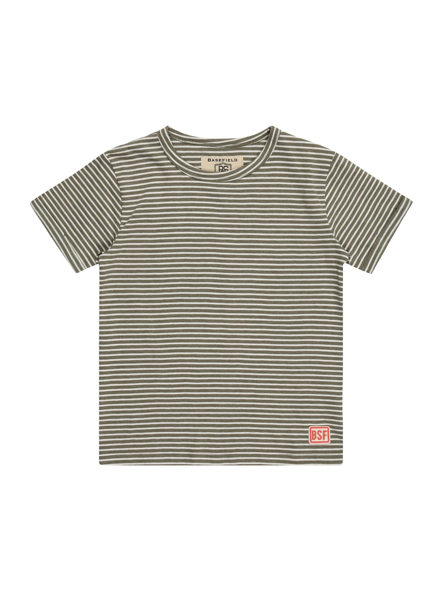 BASEFIELD Marškinėliai alyvuogių spalva / smėlio spalva