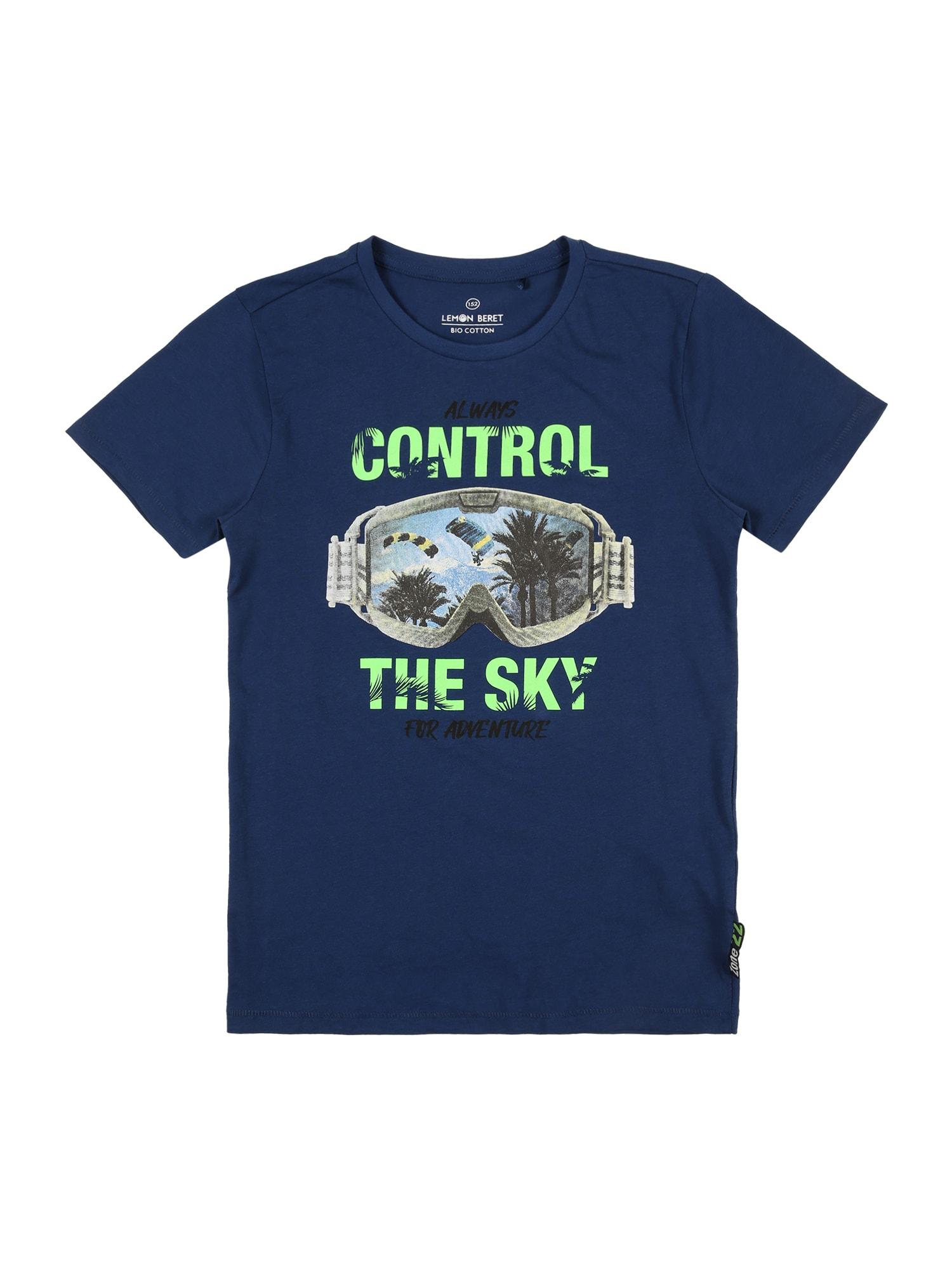 LEMON BERET Marškinėliai tamsiai mėlyna / mišrios spalvos