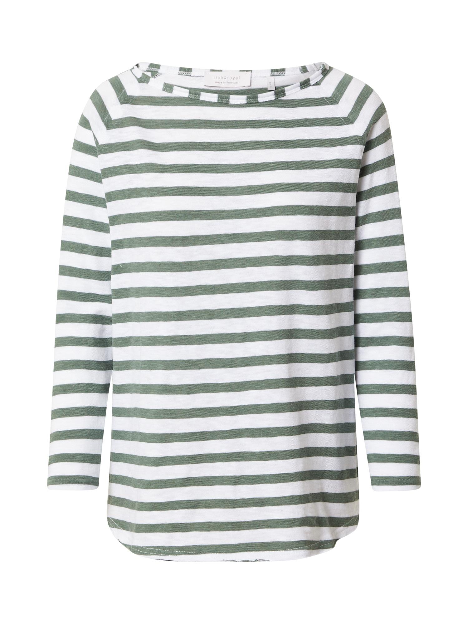 Rich & Royal Marškinėliai balta / nefrito spalva
