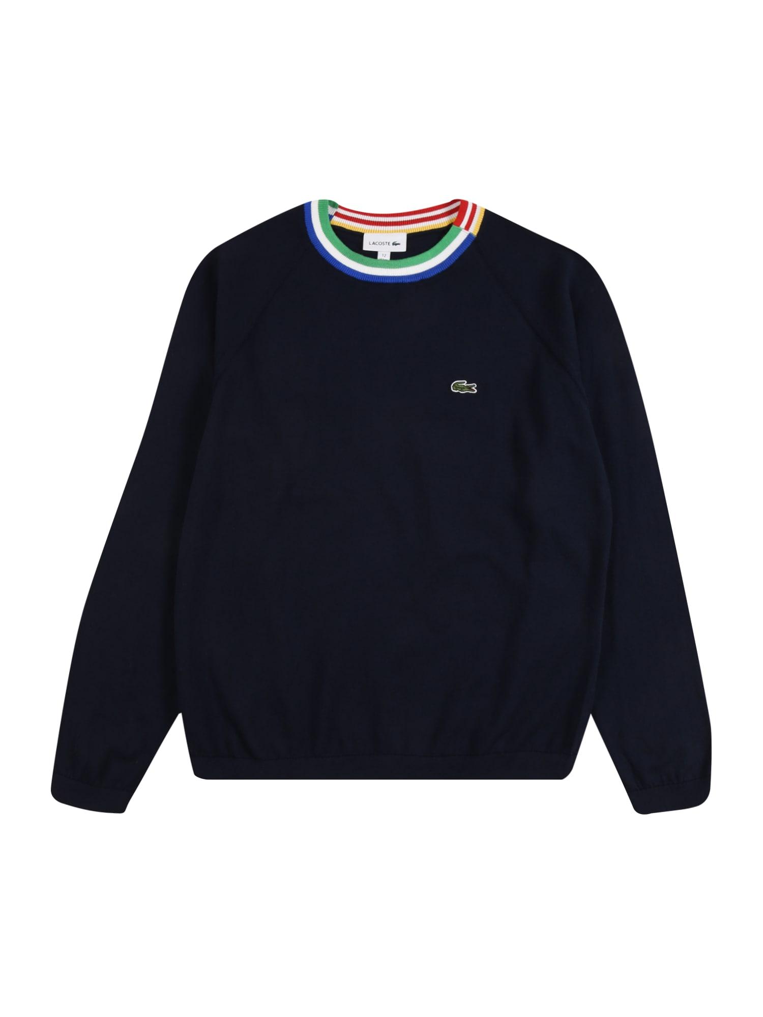 LACOSTE Megztinis tamsiai mėlyna / mėlyna / balta / šviesiai žalia / mišrios spalvos