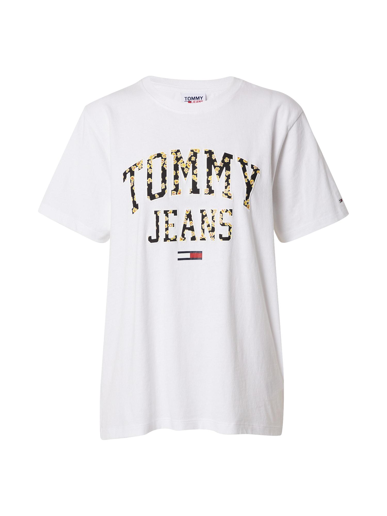 Tommy Jeans Tričko 'Collegiate'  bílá