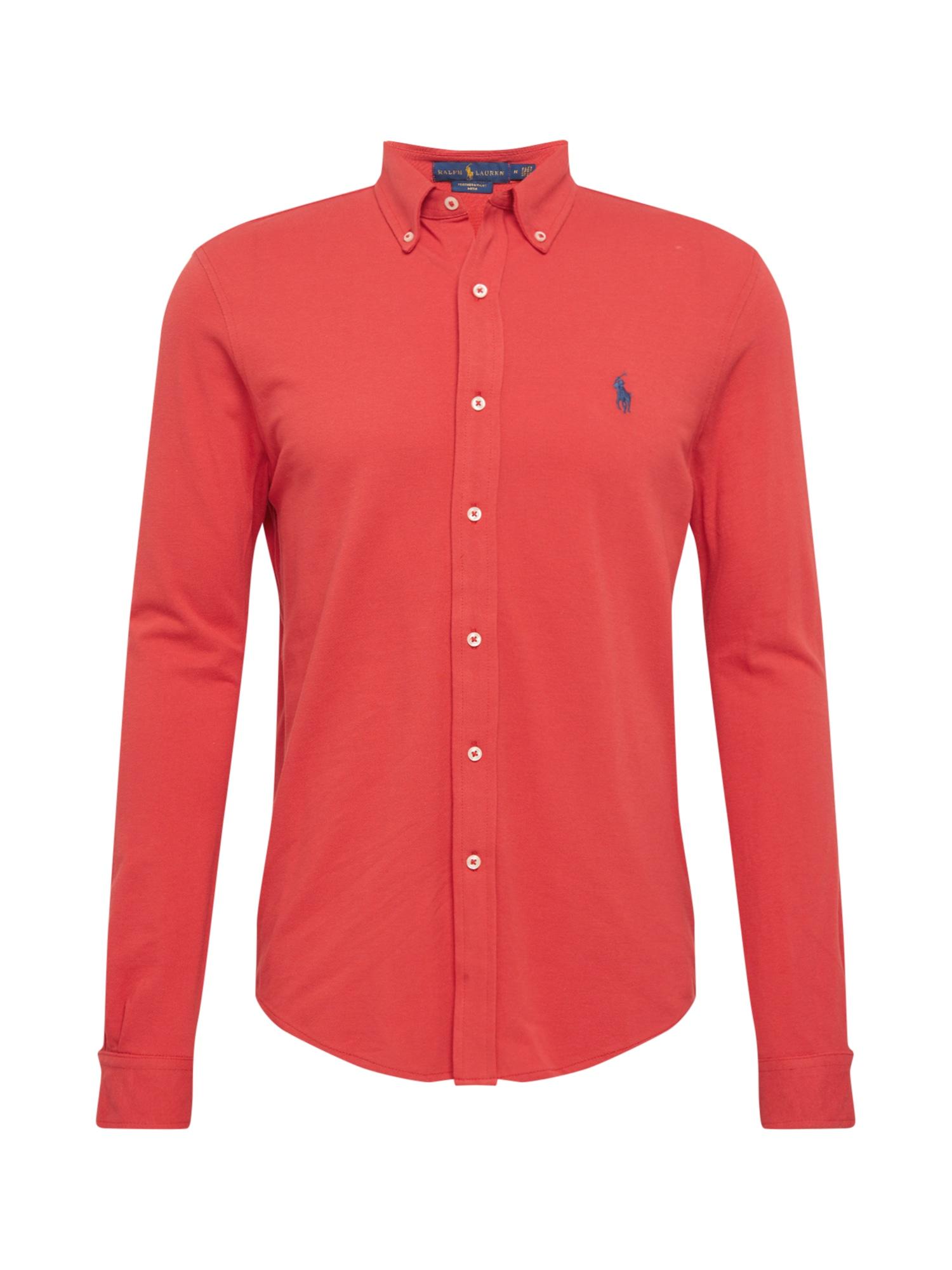POLO RALPH LAUREN Marškiniai melionų spalva / mėlyna