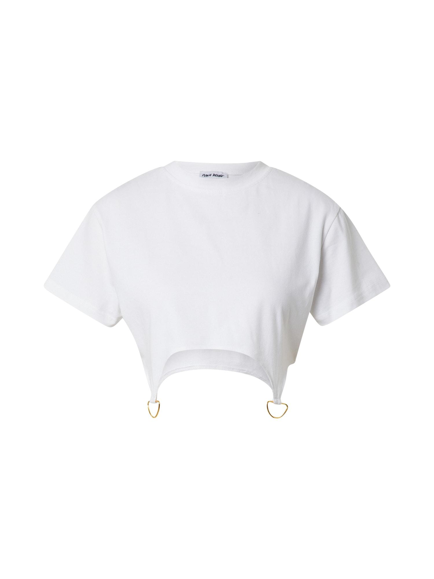 Public Desire Marškinėliai balkšva / auksas