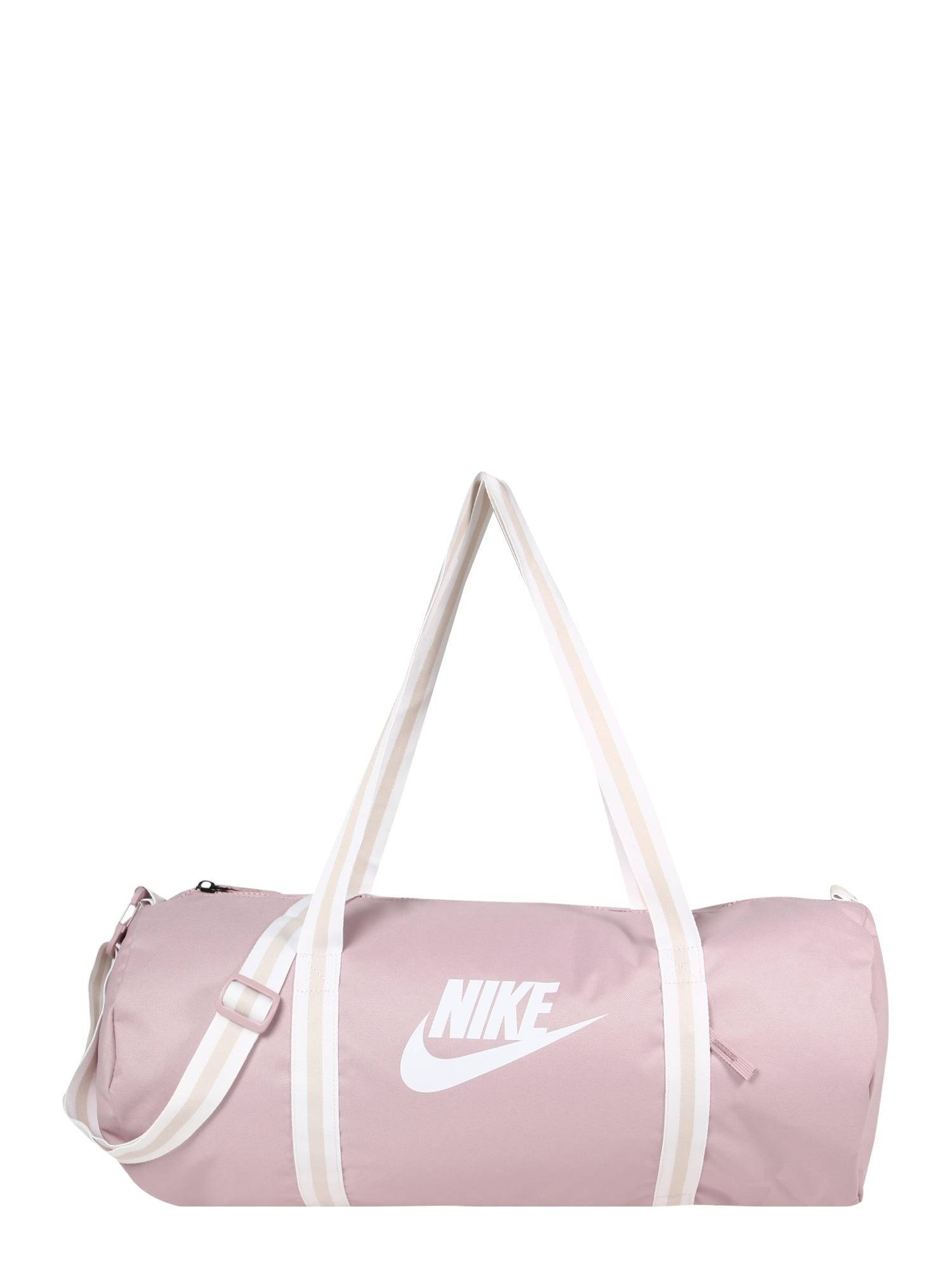 Nike Sportswear Kelioninis krepšys 'Heritage' balta / rožių spalva