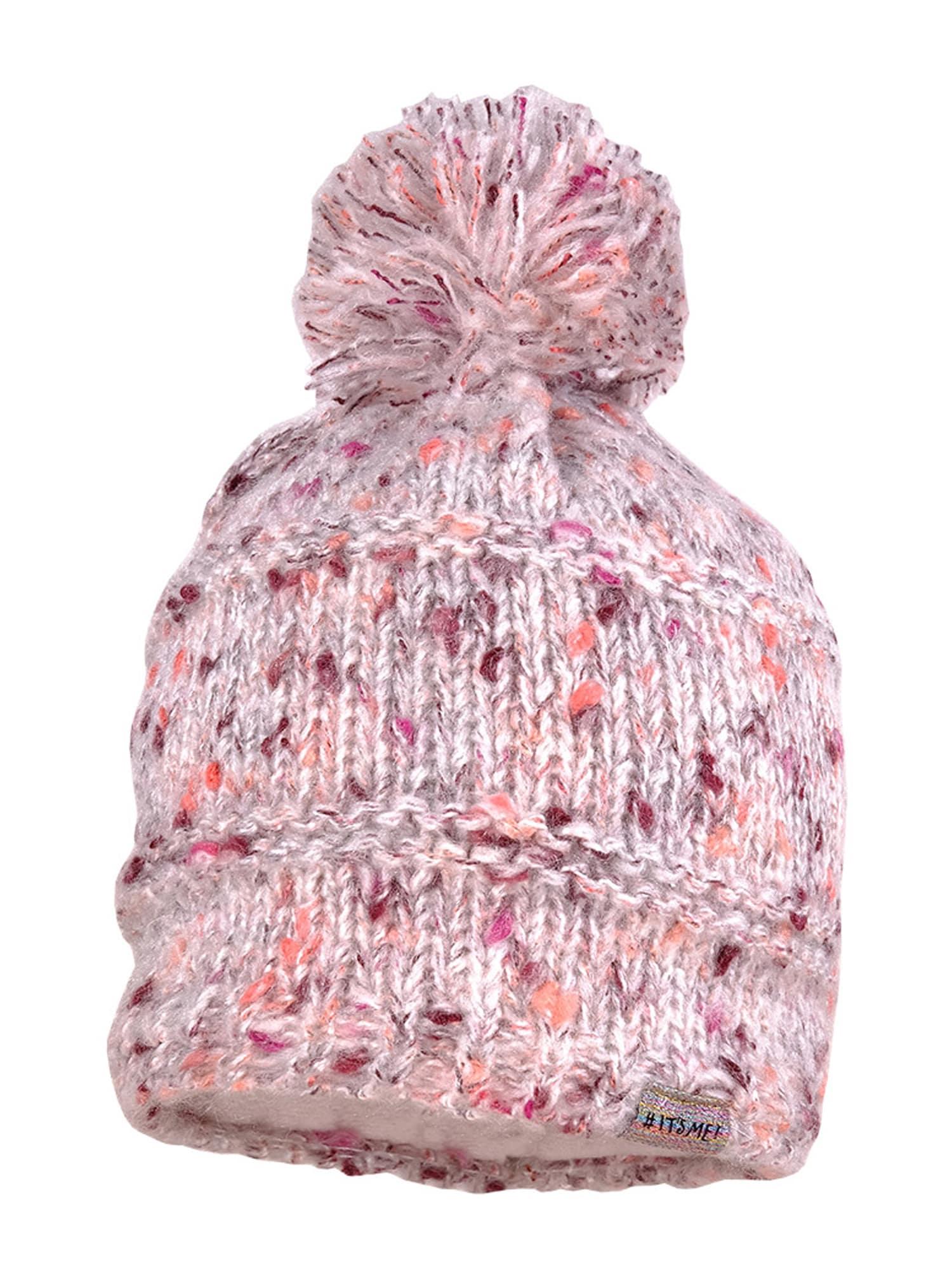 MAXIMO Megzta kepurė rožinė / lašišų spalva / tamsiai violetinė