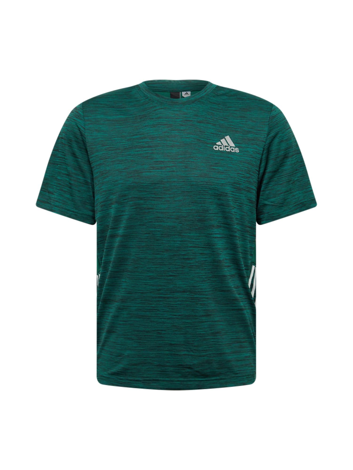 ADIDAS PERFORMANCE Funkční tričko  zelená / bílá