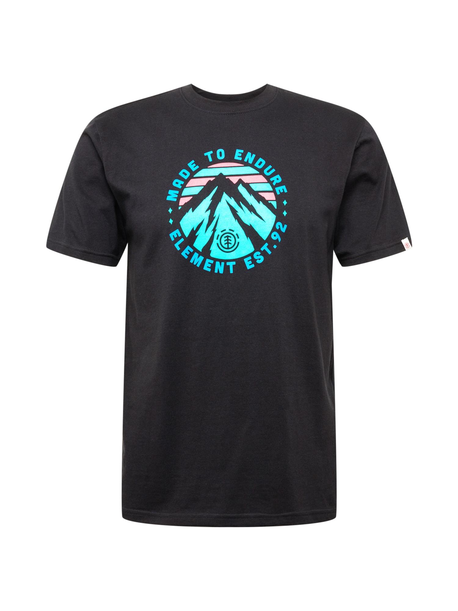 ELEMENT Sportiniai marškinėliai juoda / mėlyna / rožinė