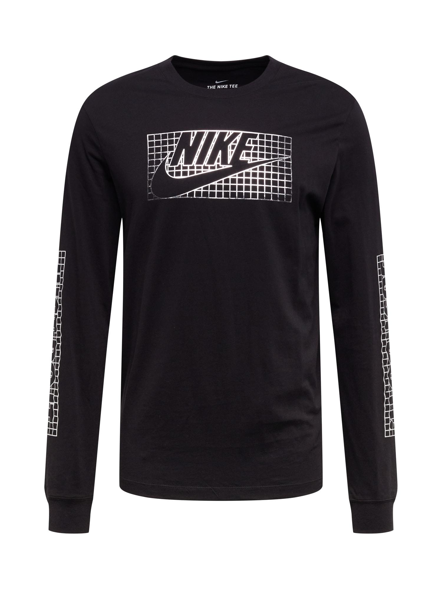 Nike Sportswear Mikina 'BLACK'  černá / bílá