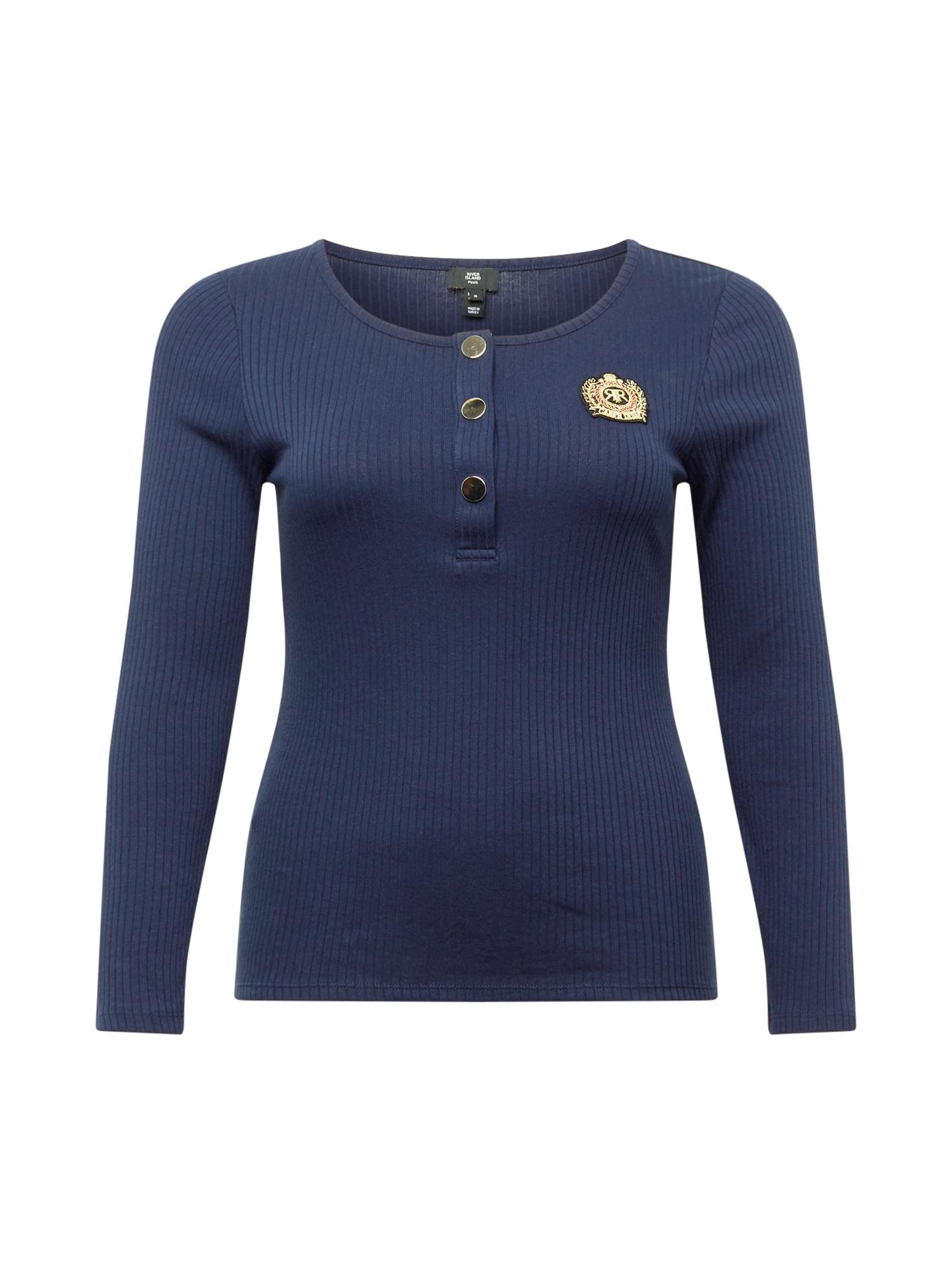 River Island Plus Marškinėliai tamsiai mėlyna