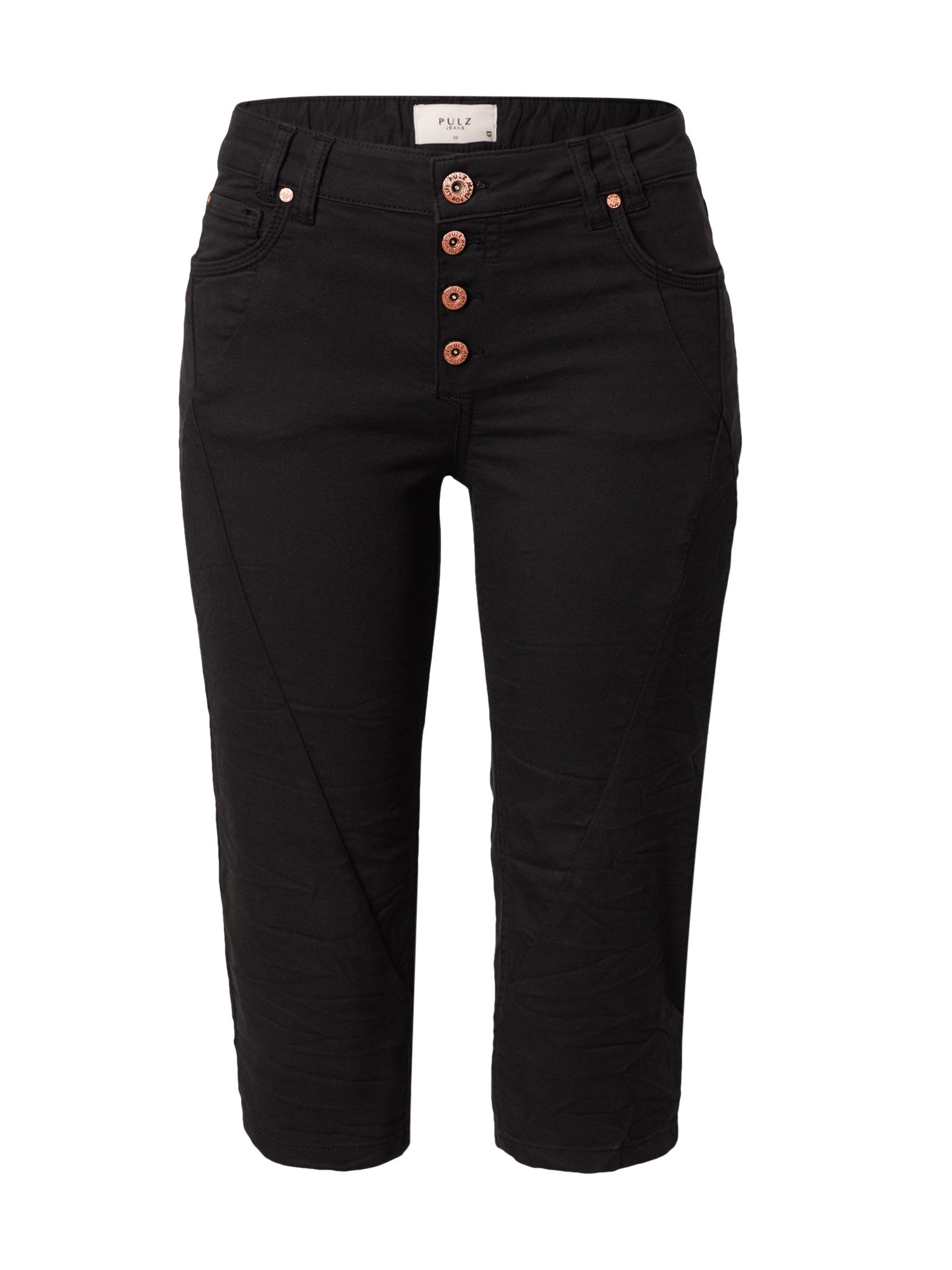 PULZ Jeans Kelnės juoda