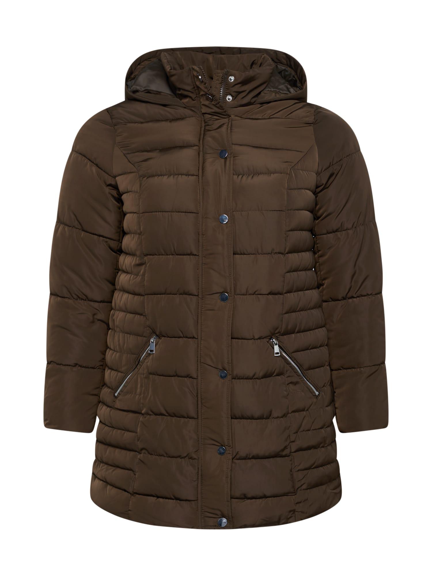 Dorothy Perkins Curve Žieminis paltas rusvai žalia