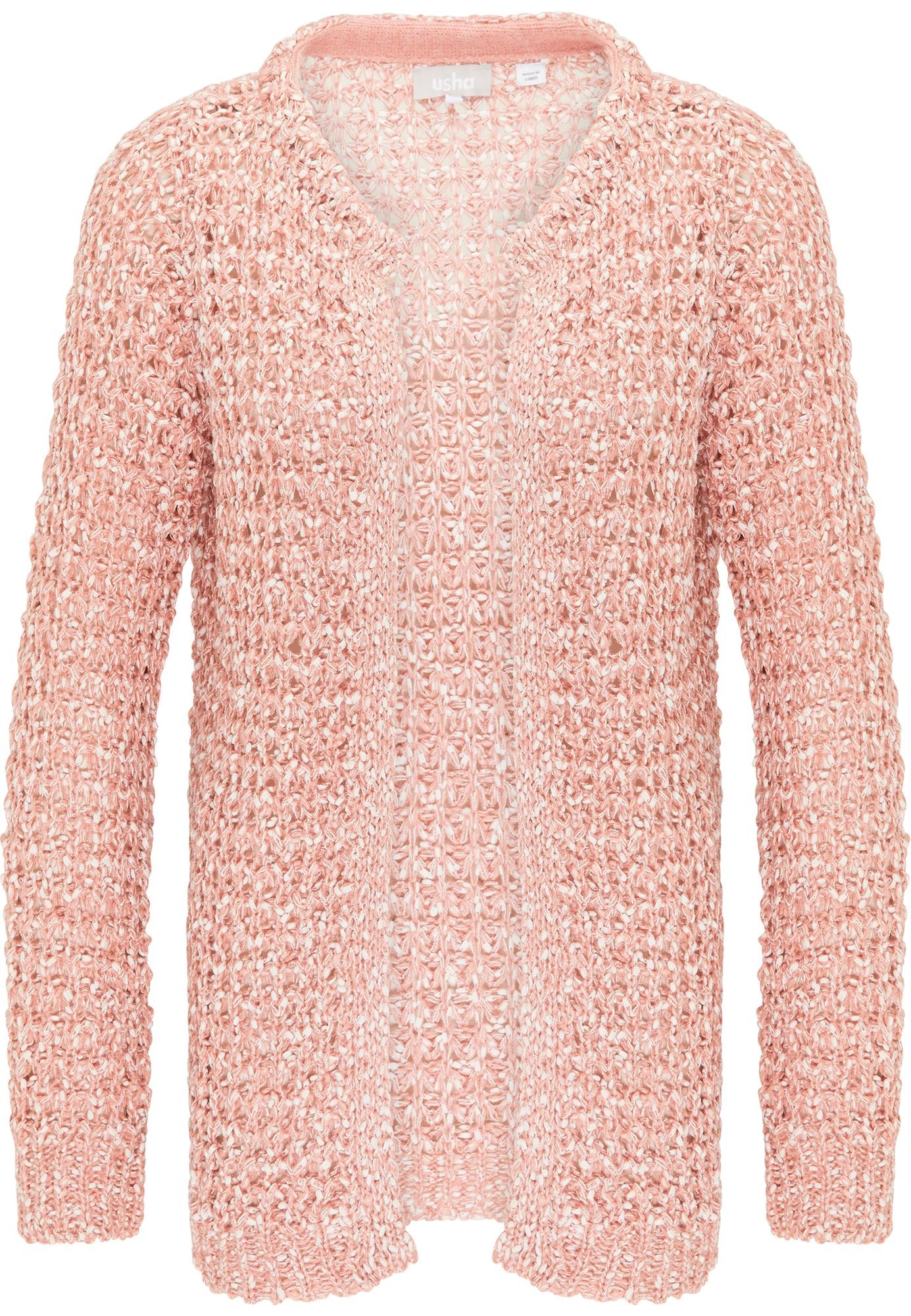 Usha Kardiganas ryškiai rožinė spalva / balta